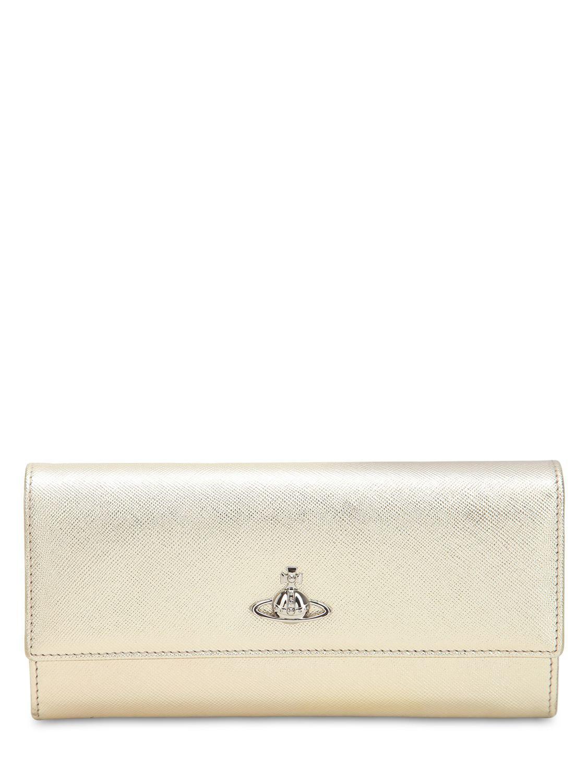 ee0a59513d Lyst - Vivienne Westwood Pimlico Long Leather Wallet in Metallic