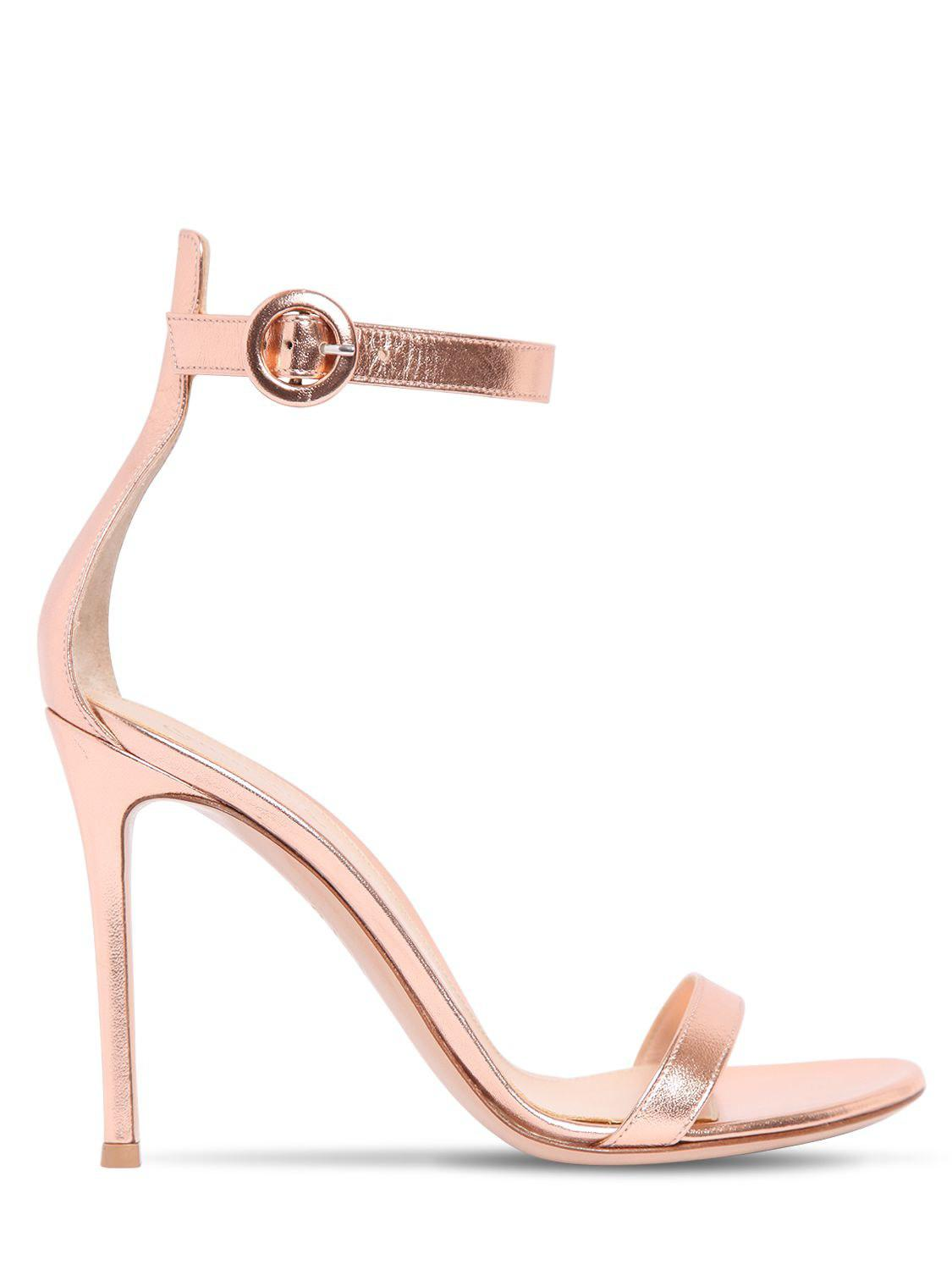 Gianvito Rossi 100MM PORTOFINO PLEXI & LEATHER SANDALS kJPTAjrFOZ