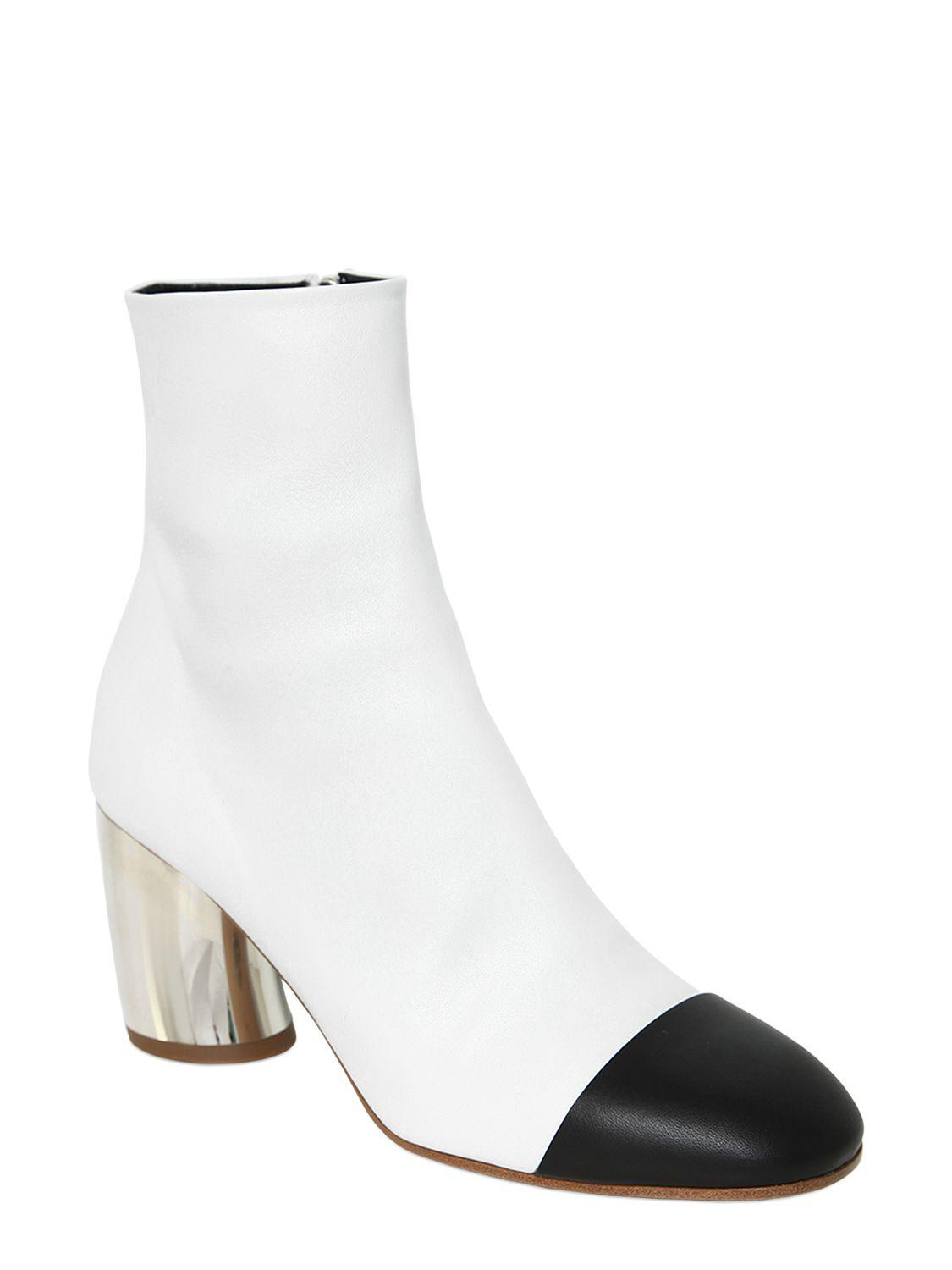 Proenza Schouler 70MM LEATHER ANKLE BOOTS