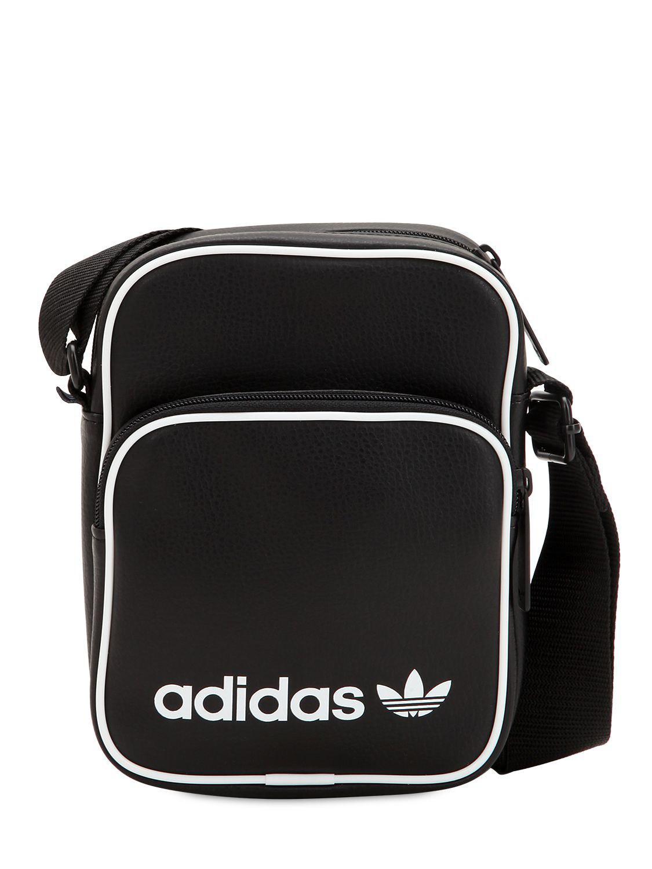 1ceefb4a84 Lyst - adidas Originals Mini Faux Leather Bag in Black for Men