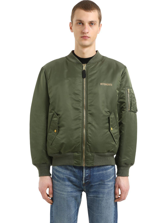 c559890ab Vetements Green Reversible Cropped Nylon Bomber Jacket for men