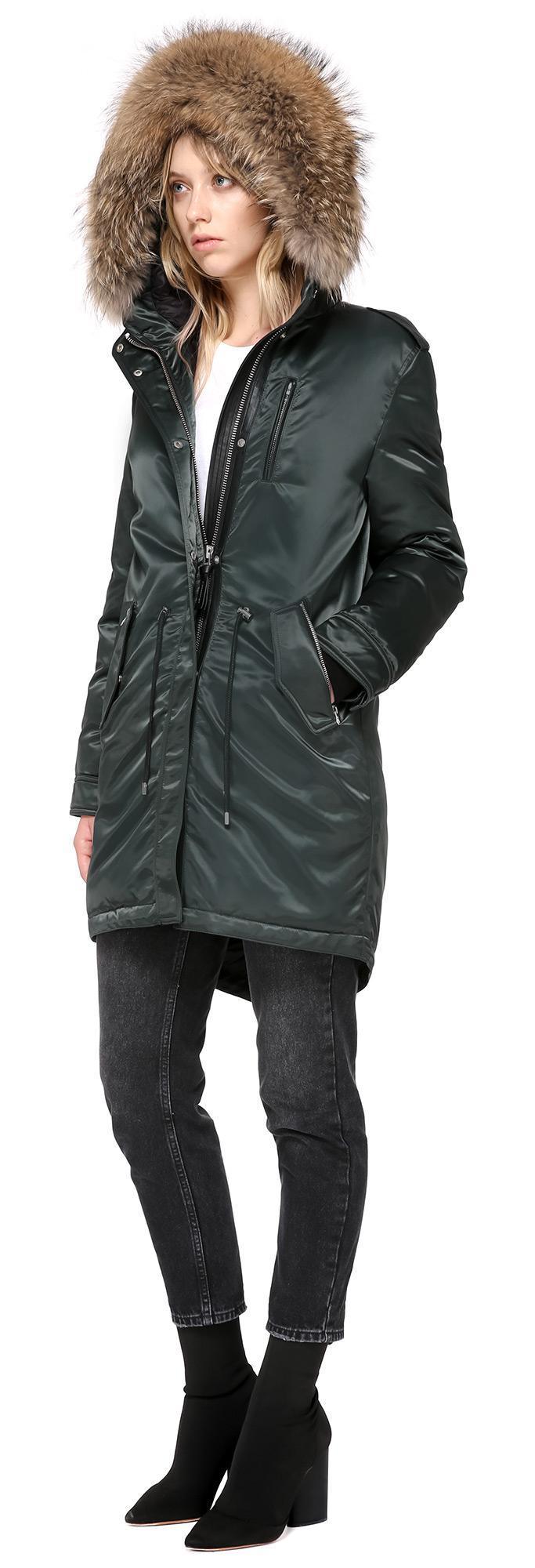 dde857d00 Mackage Multicolor Reba Down Filled Twill Parka With Fur Trim Hood In Dark  Sage