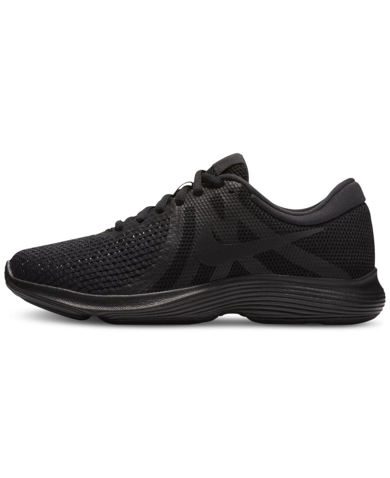 Lyst - Nike Women s Revolution 4 Running Sneakers From Finish Line in Black 748a72e589