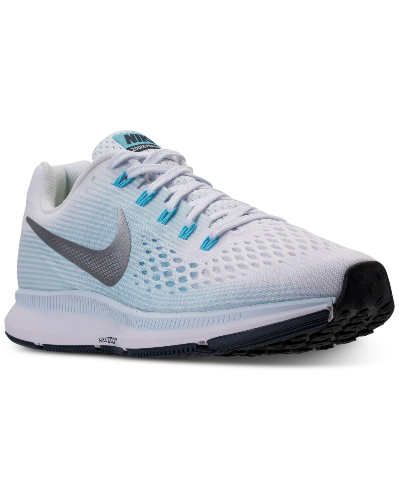 Nike | Blue Women's Air Zoom Pegasus 34 Running Sneakers From Finish Line |  Lyst. View Fullscreen