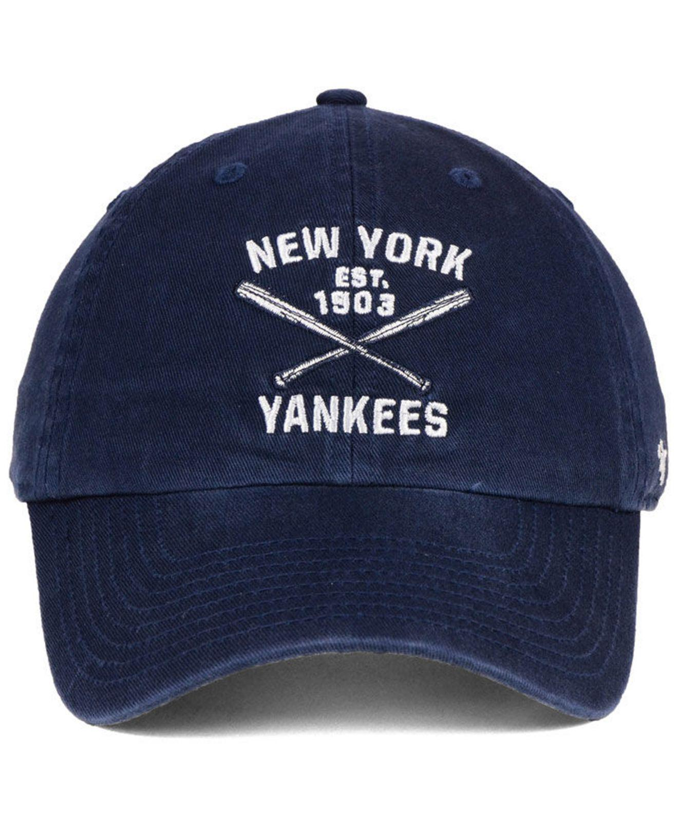 new product d1398 f72e8 ... good lyst 47 brand new york yankees axis clean up cap in blue for men  06576