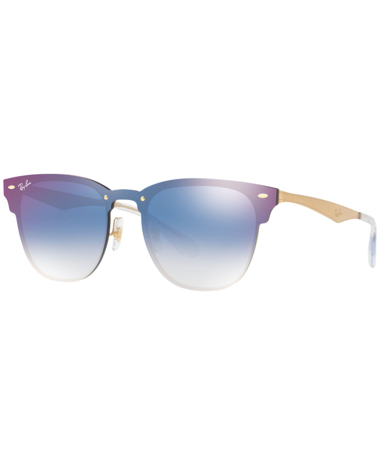 c689fa2d4c Lyst - Ray-Ban Rb3576n Unisex Blaze Clubmaster Square Sunglasses in ...