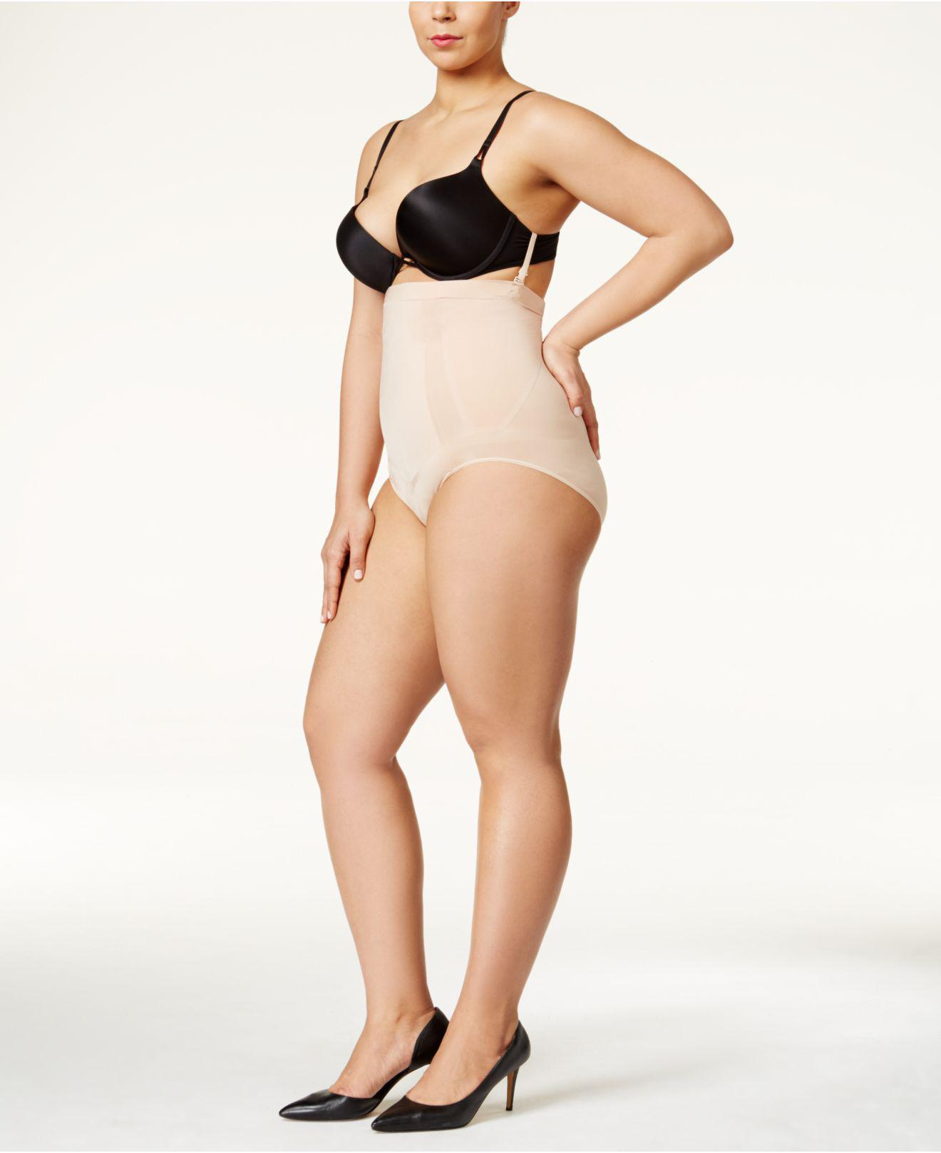 85d43b03a Spanx. Women s Natural Plus Size Extra Firm Control Oncore High Waist ...