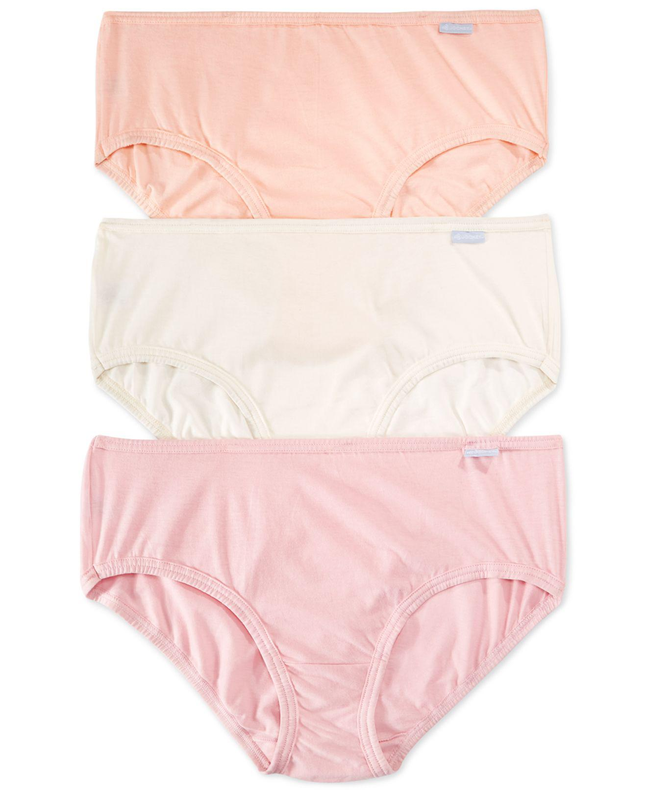 b39e271cd71 Lyst - Jockey Plus Size Elance Cotton Hipster 3 Pack 1482 in Pink