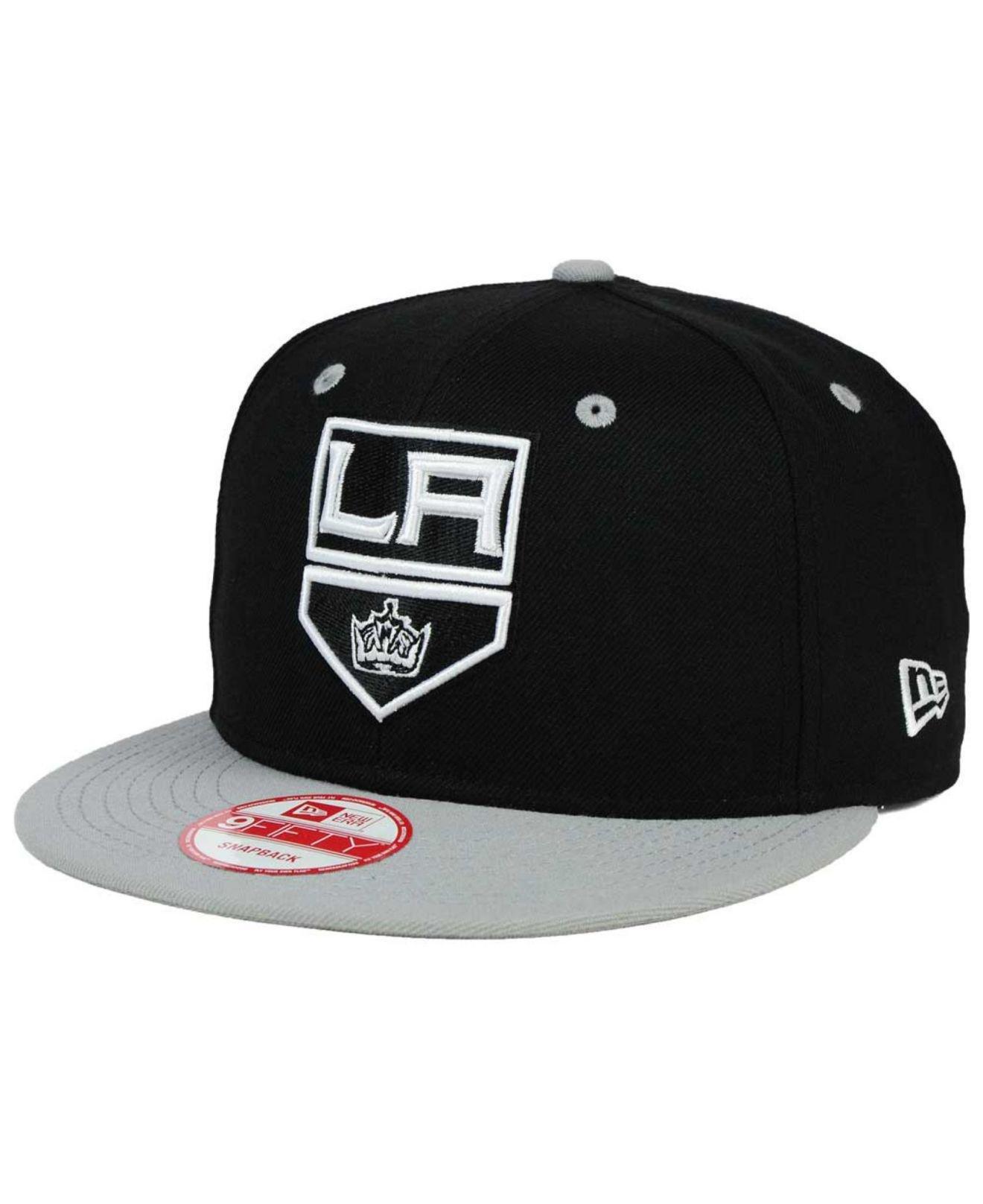 0888d5317f3 KTZ. Men s Gray Los Angeles Kings Black White Team Color 9fifty Snapback Cap
