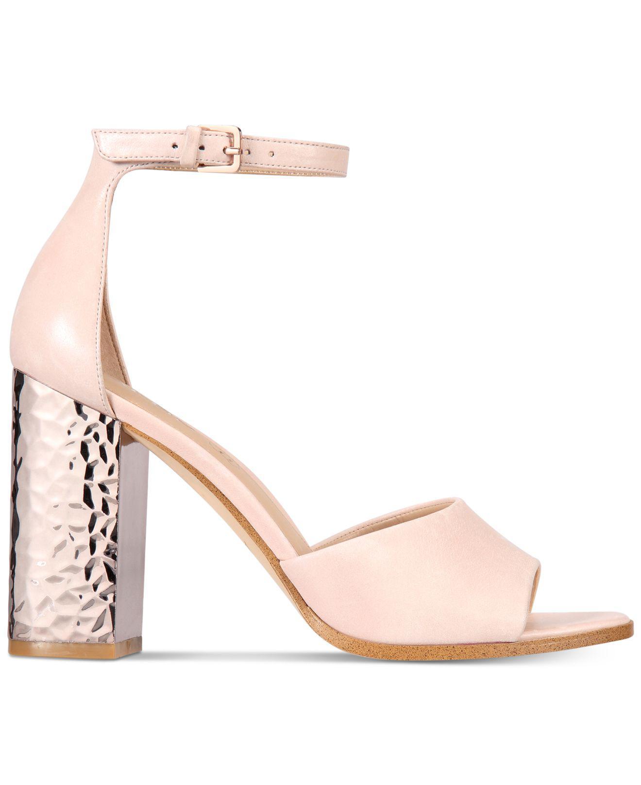 Block Women's Two Nilia Pink Piece Sandals Heel Aldo H9IbeYWED2