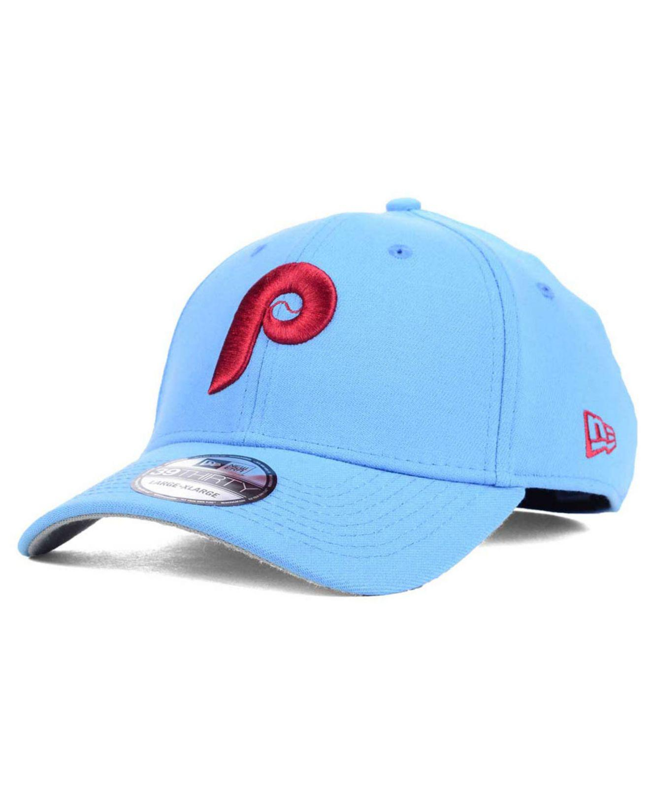 9a898caad17 Lyst - KTZ Philadelphia Phillies Core Classic 39thirty Cap in Blue ...