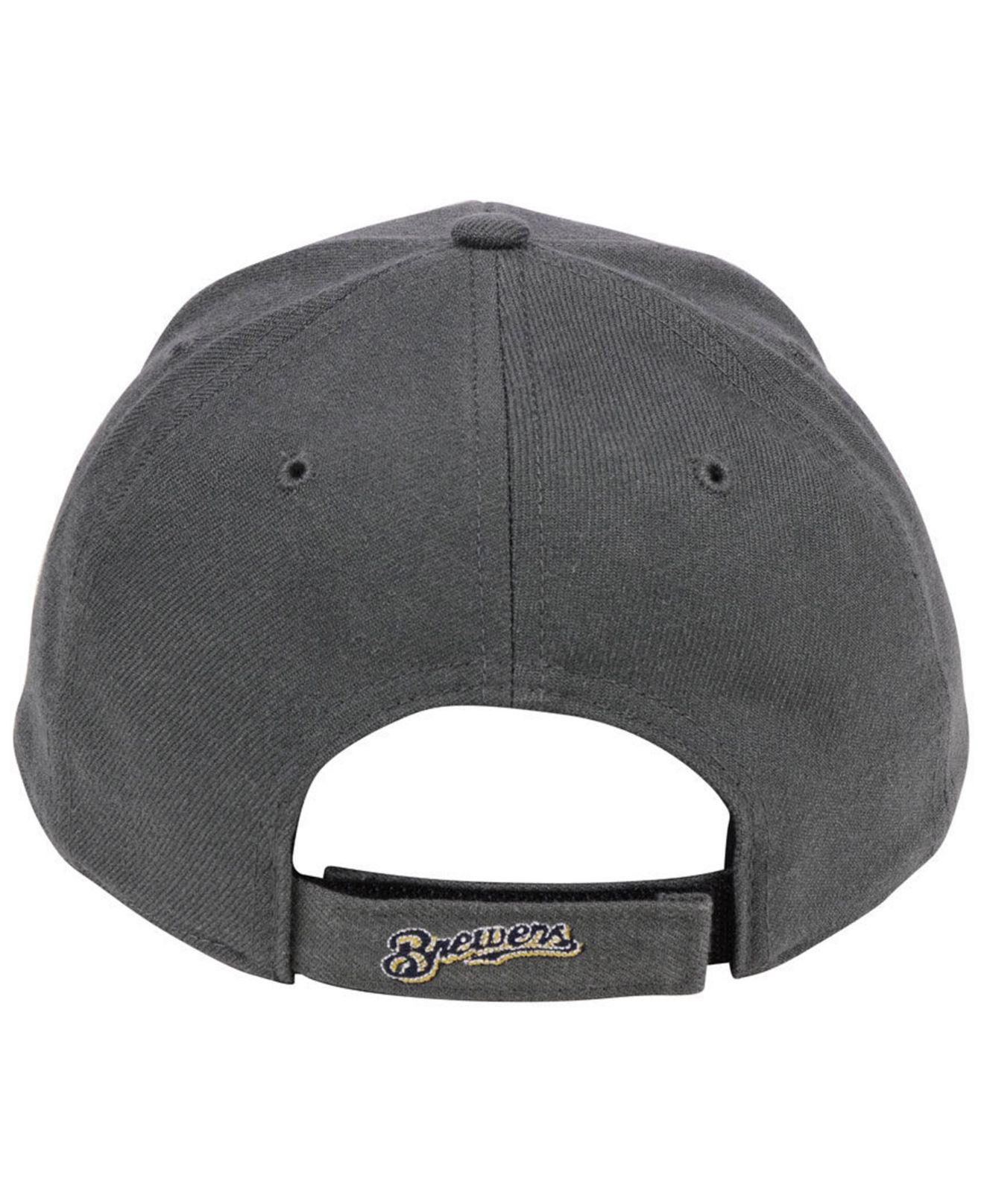 best service 2992e 97524 canada 47 brand 2tone charcoal black pop mvp cap lyst 725aa 01b68  best  price gallery. previously sold at macys mens baseball caps cc011 131bd
