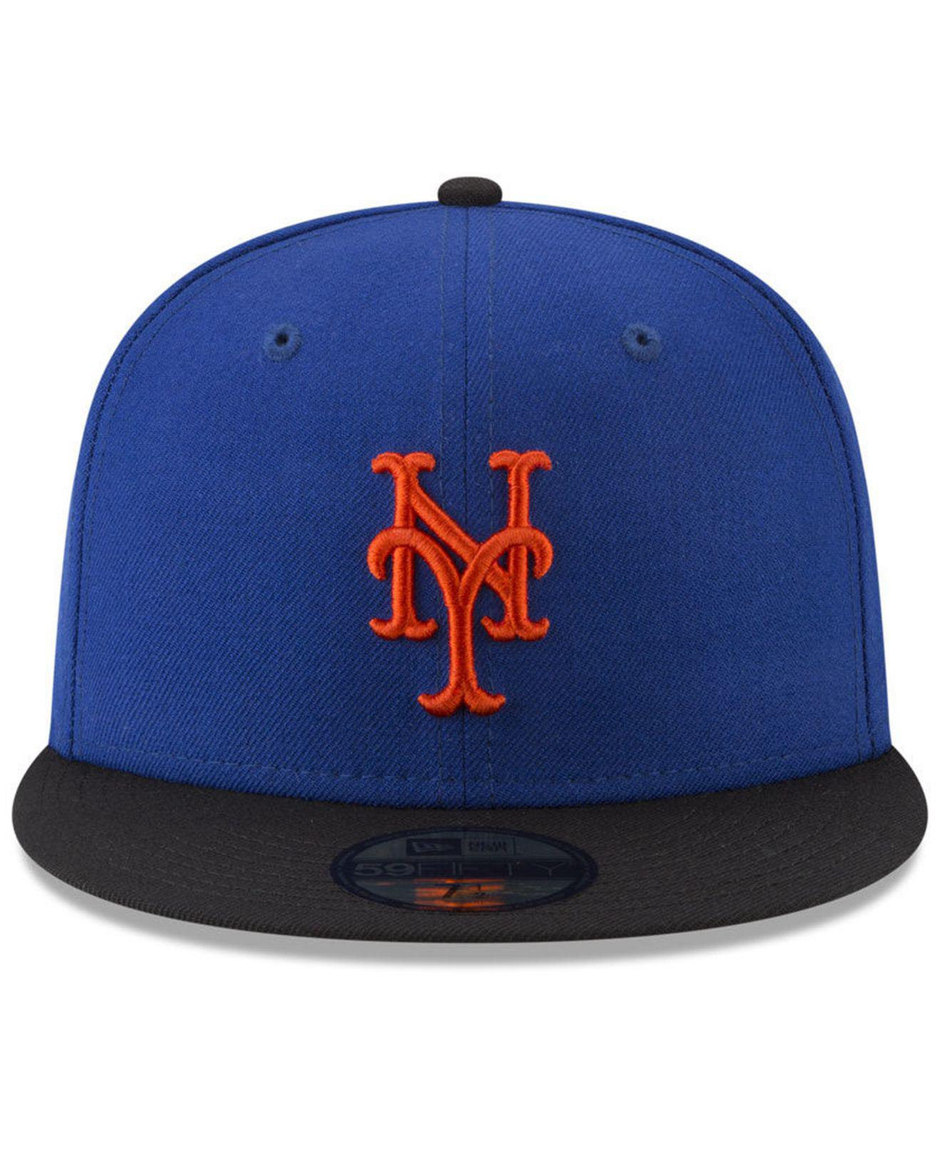 wholesale dealer 4b20c 414ce ... wholesale lyst ktz new york mets batting practice wool flip 59fifty  fitted cap in blue for