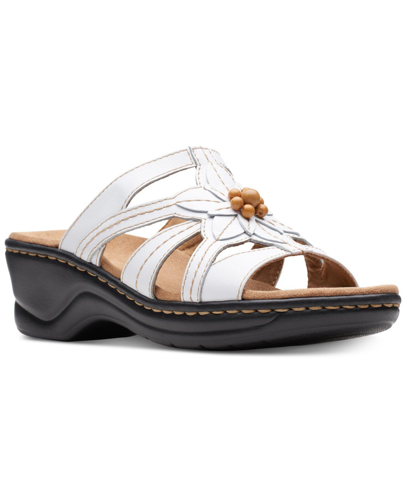 c3db55a68e6 Lyst - Clarks Lexi Myrtle Sandals in White