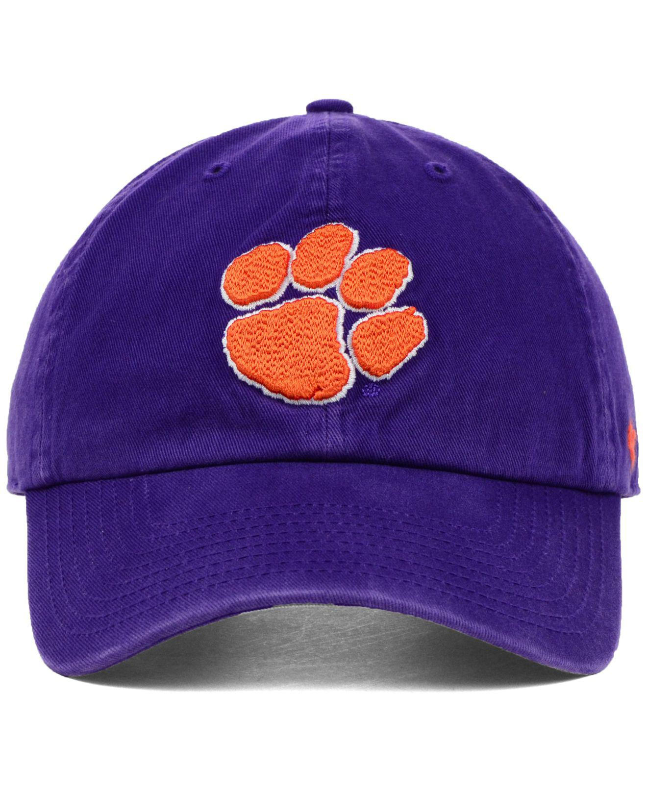 e1cf57e8886f1 ... germany lyst 47 brand clemson tigers ncaa clean up cap in purple for men  a9889 c6ea7 ...