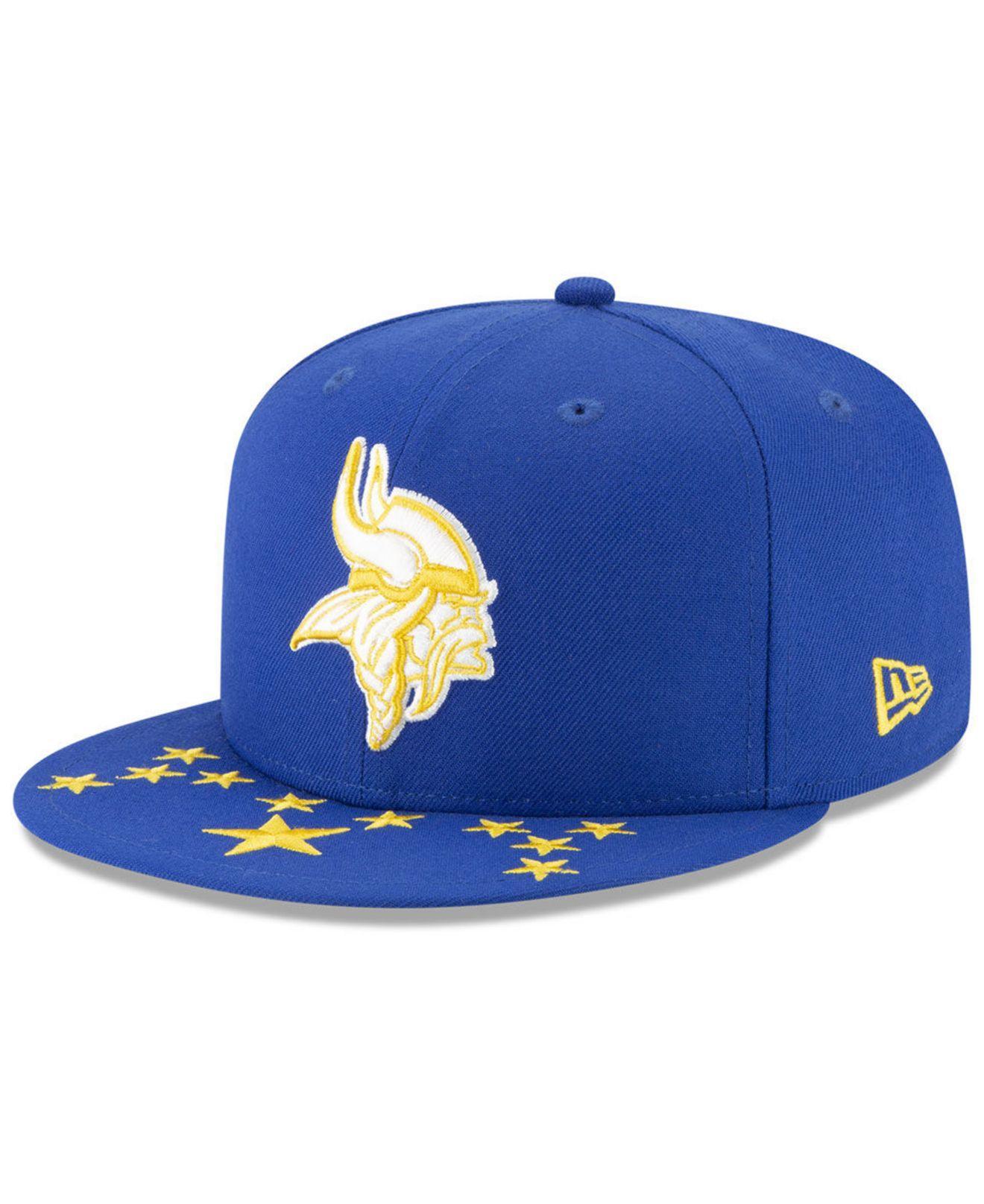 best website a1c12 82179 KTZ - Blue Minnesota Vikings Draft Spotlight 59fifty-fitted Cap for Men -  Lyst. View fullscreen