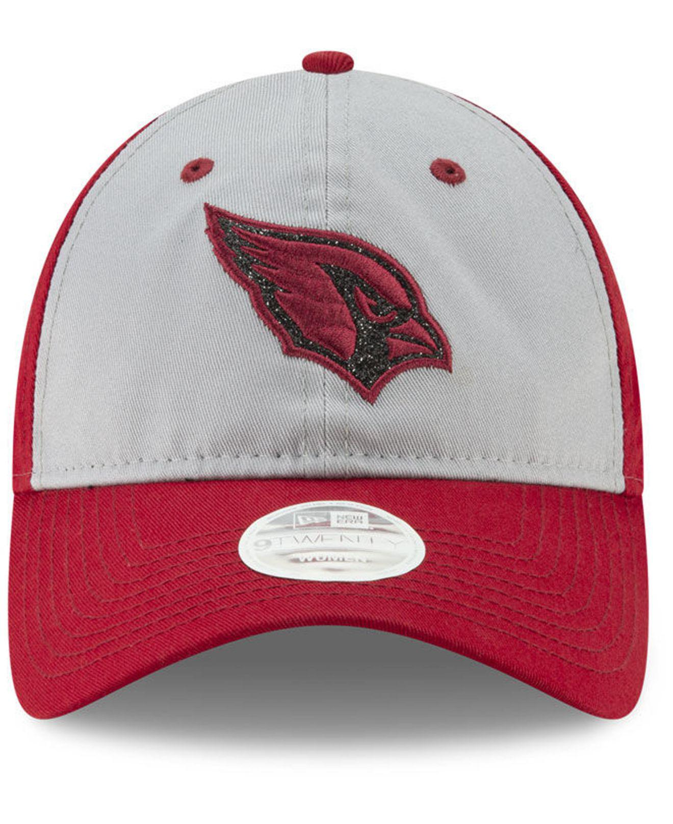 reputable site 50863 4bc10 ... clearance lyst ktz arizona cardinals gray glitter 9twenty cap in red  cb73f fb541