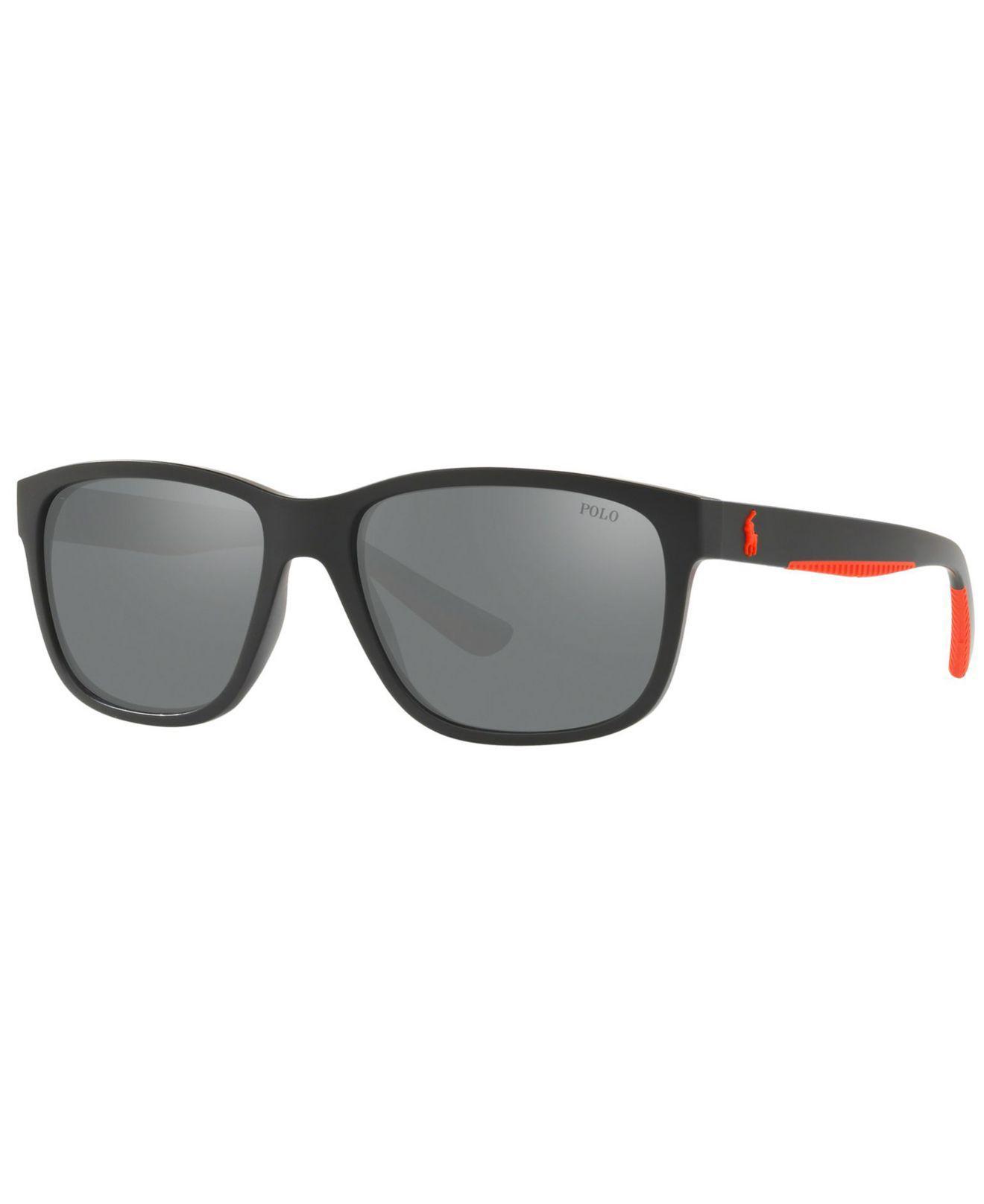 02b762b63b Polo Ralph Lauren. Men s Black Sunglasses ...