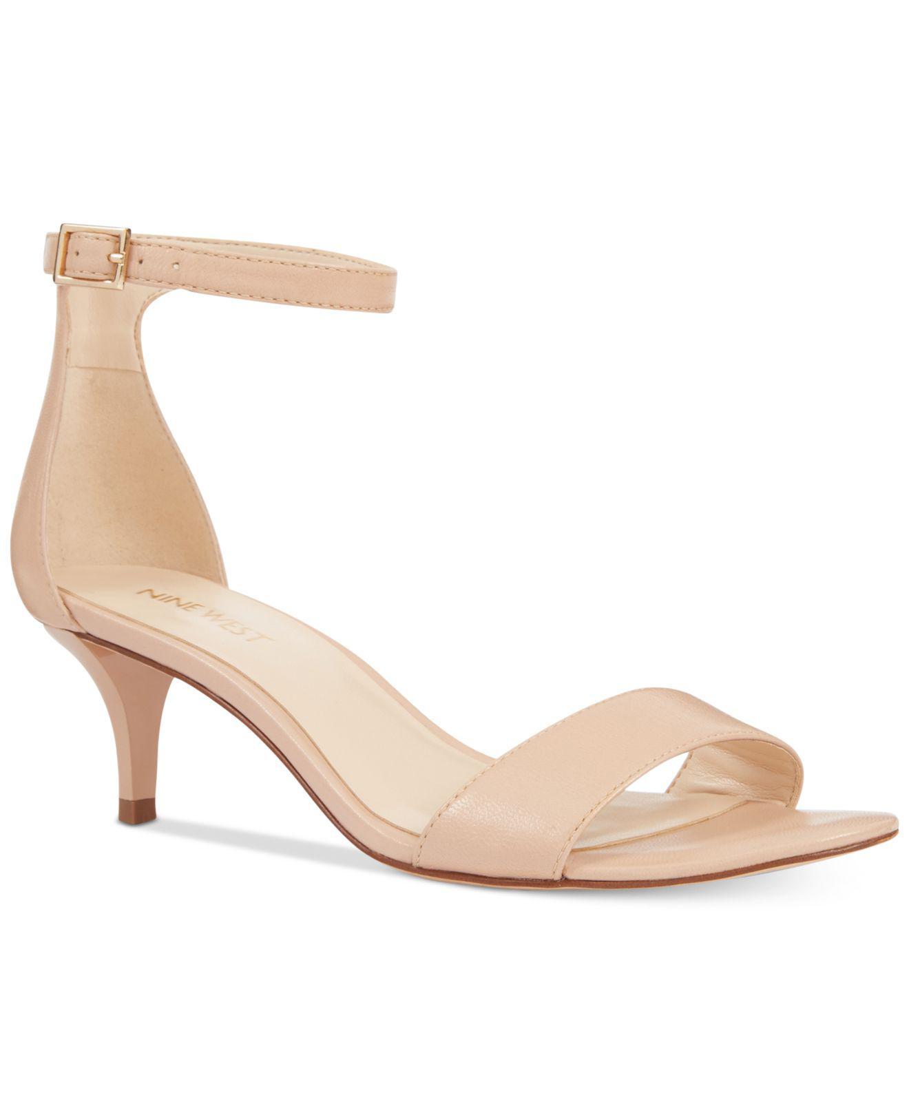 Nine West Leisa Two-Piece Kitten Heel Sandals Women's Shoes dKODa5Q