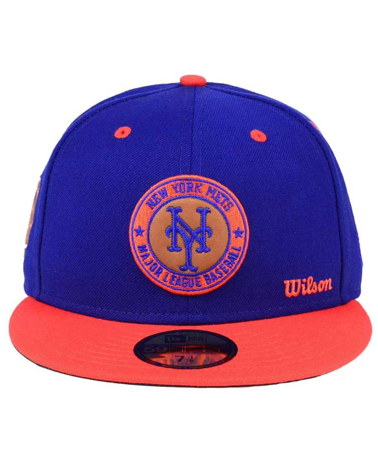 low priced 08aae af00d ... usa lyst ktz x wilson circle patch 59fifty cap in blue for men save  31.42857142857143 eaff7