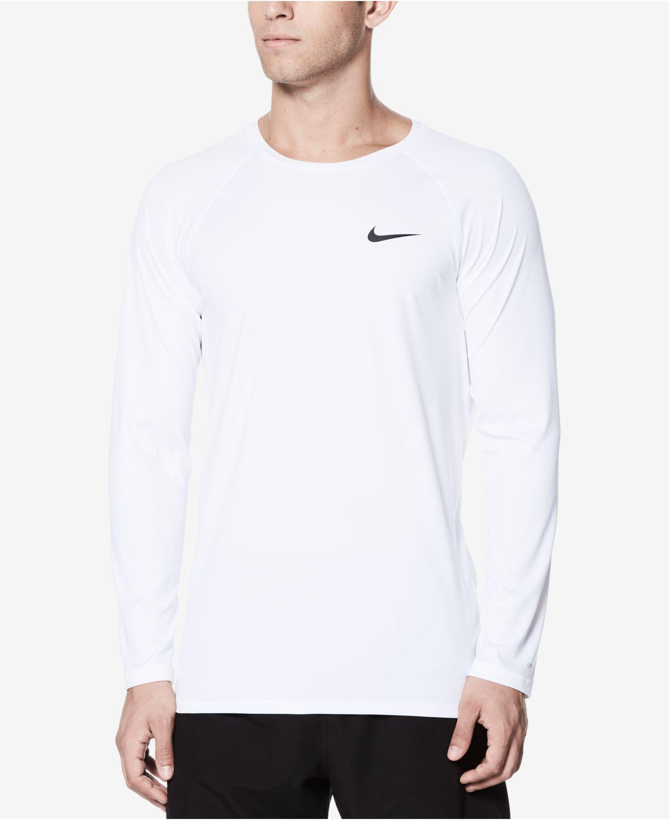 926a6abe Nike Long-sleeve Hydroguard T-shirt in White for Men - Lyst