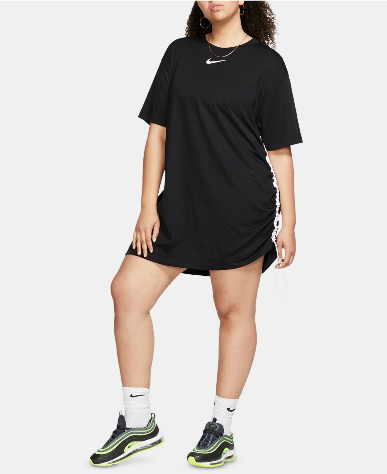 Women\'s Black Plus Size Logo T-shirt Dress