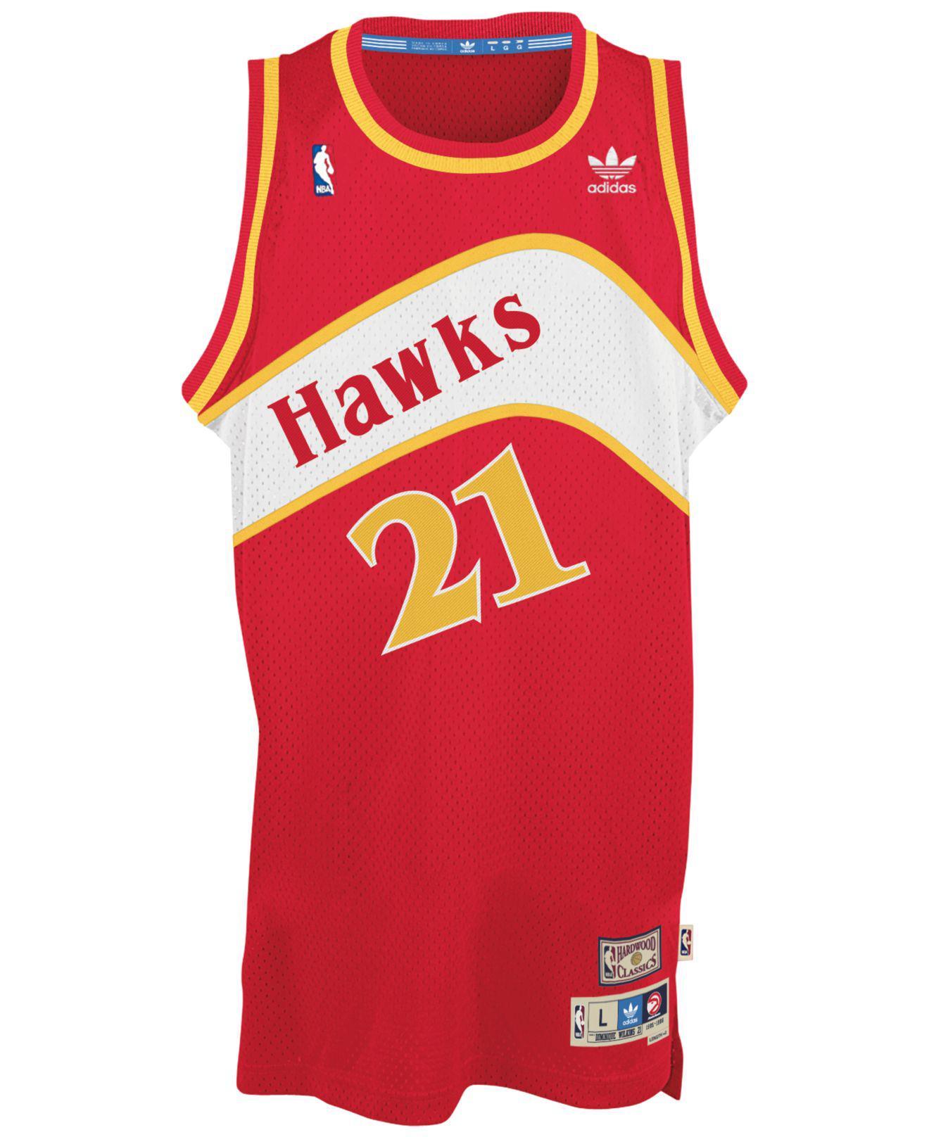 0a7acb42b41 adidas Men'S Dominique Wilkins Atlanta Hawks Swingman Jersey in Red for Men  - Save 27% - Lyst