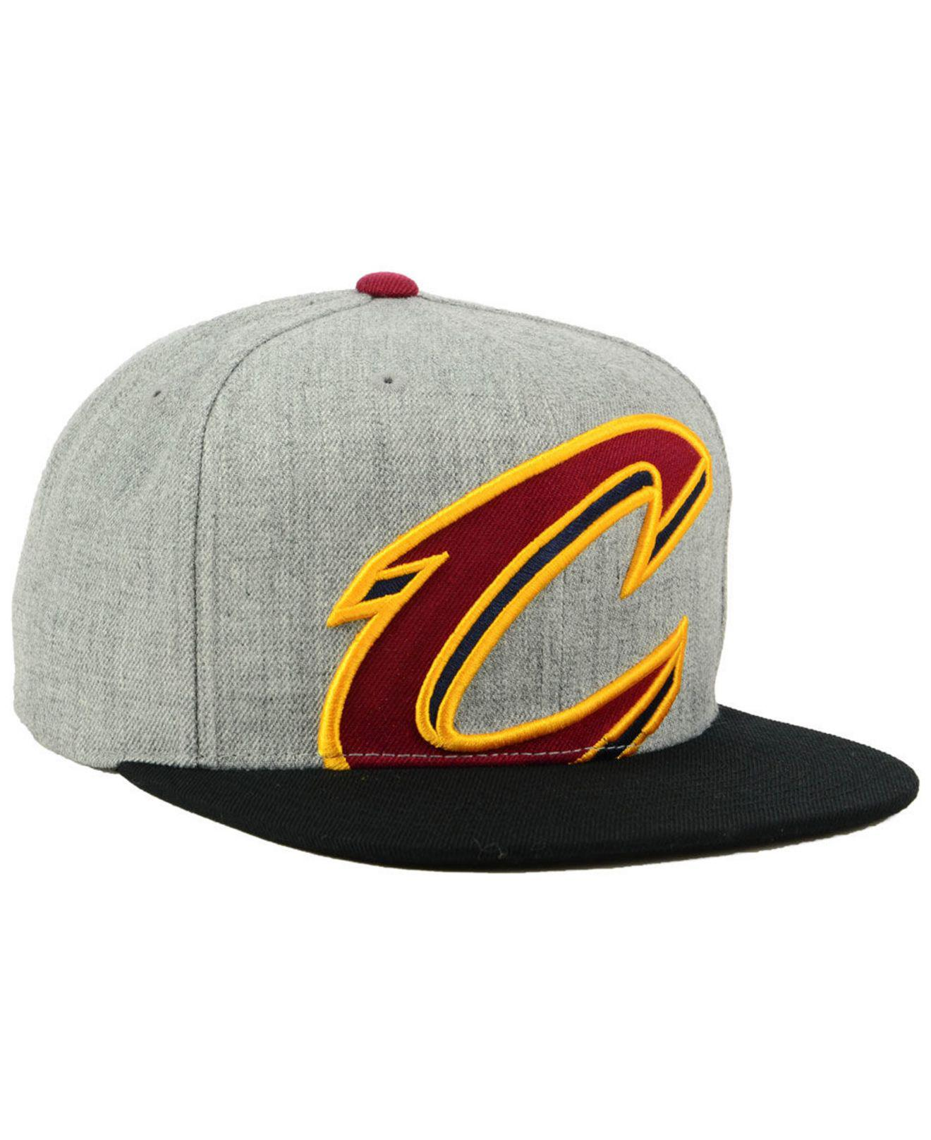 hot sale online 29276 f36e1 ... ireland mitchell ness multicolor cleveland cavaliers cropped heather  snapback cap for men lyst. view fullscreen