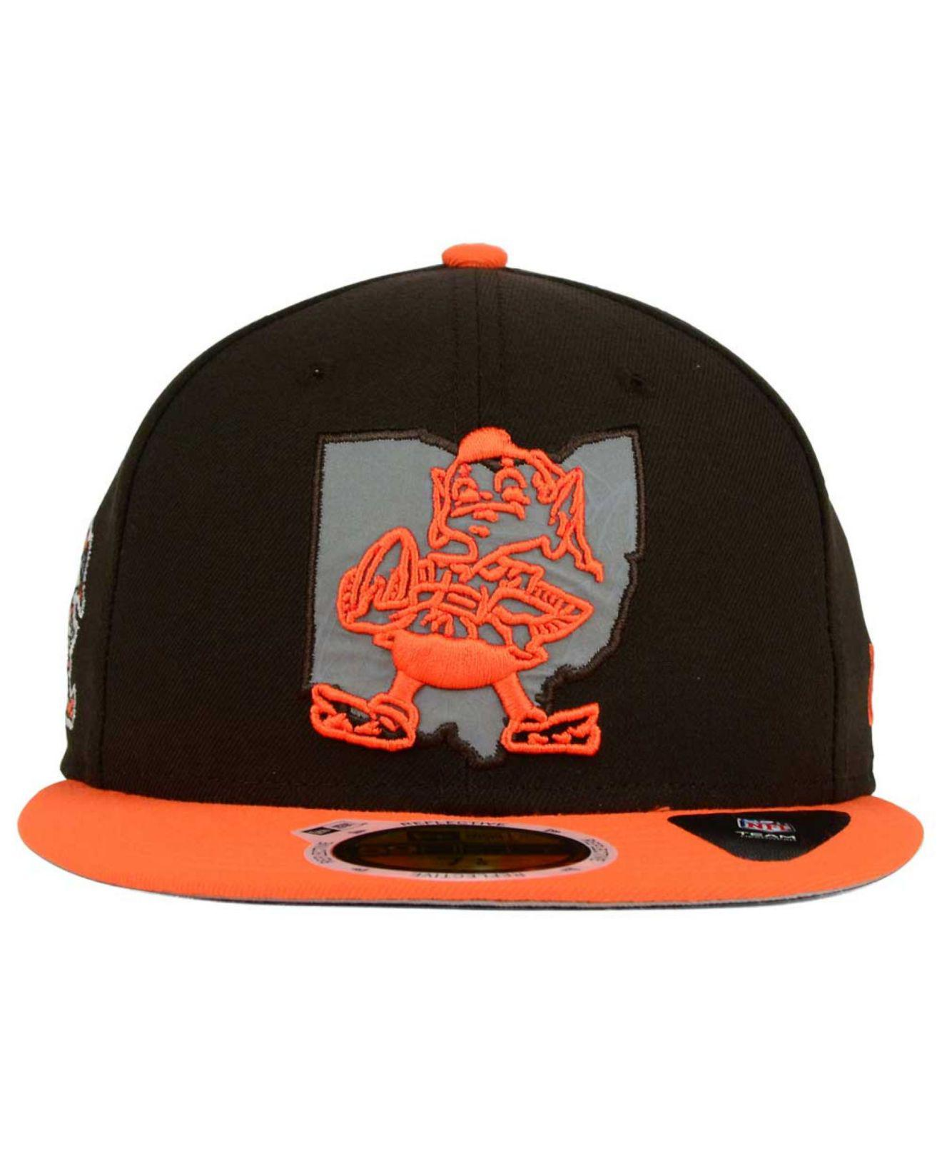 half off df890 01aac Lyst - KTZ Cleveland Browns State Flective Redux 59fifty Cap in ...