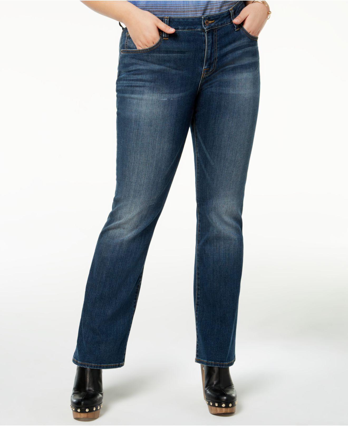 7f7ece01eb3 Lyst - Lucky Brand Trendy Plus Size   Petite Plus Ginger Bootcut ...