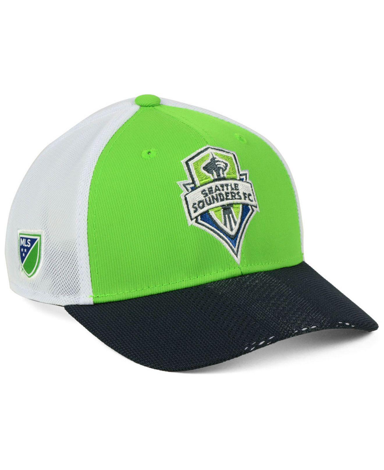 1c6725b6b0b Lyst - adidas Seattle Sounders Fc Authentic Mesh Adjustable Cap in ...