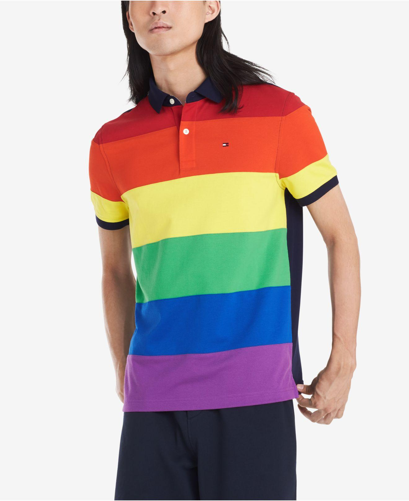 822874cc Tommy Hilfiger Custom-fit Pride Polo for Men - Lyst