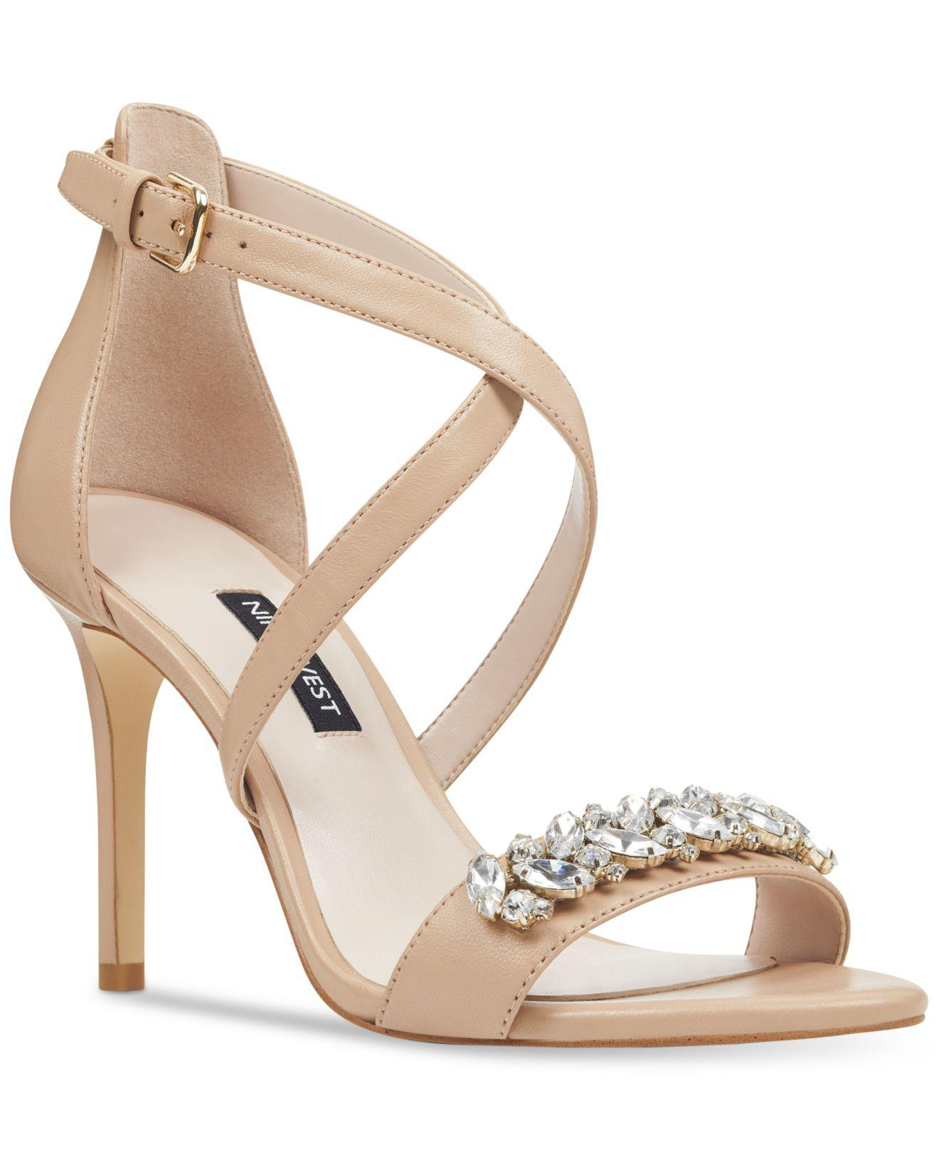 fed5768dd9d Lyst - Nine West Mikhaila Evening Sandals in Natural