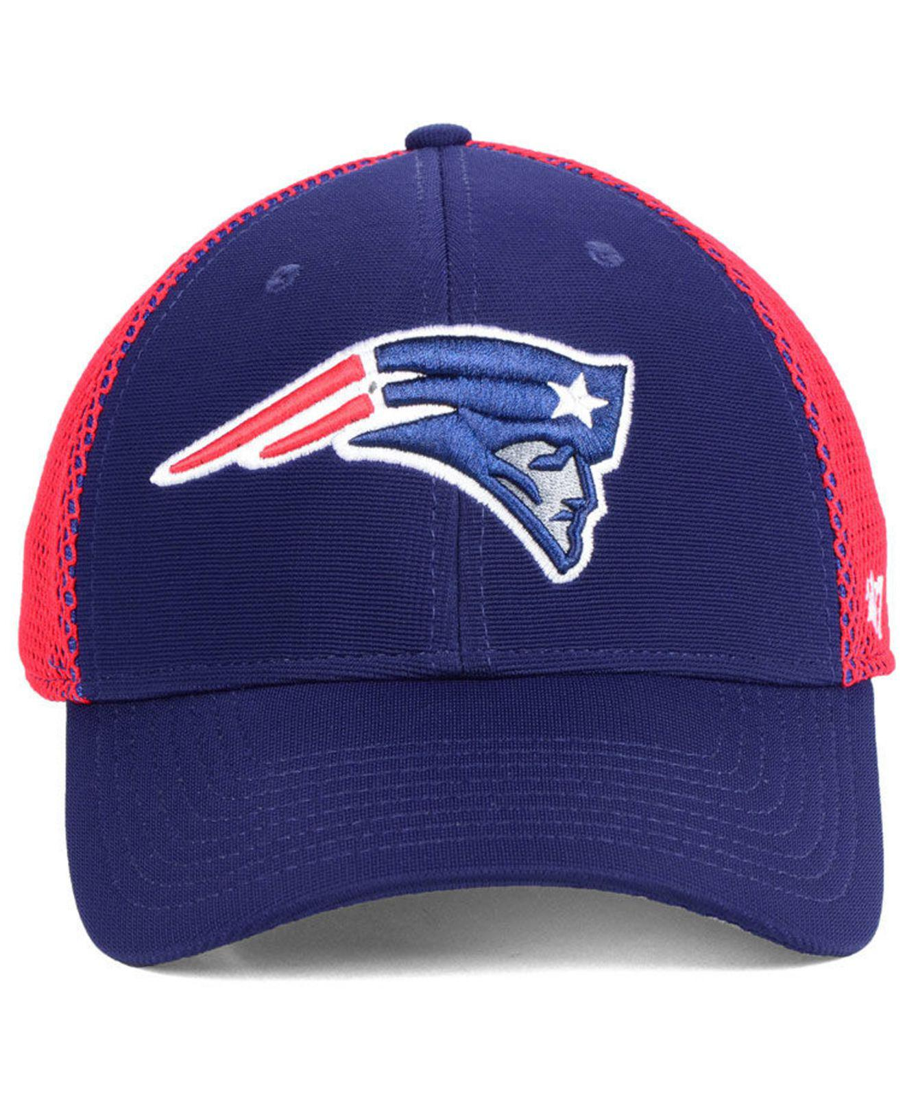competitive price 4d662 cc885 ... closeout lyst 47 brand new england patriots comfort contender flex cap  in blue for men 93df6
