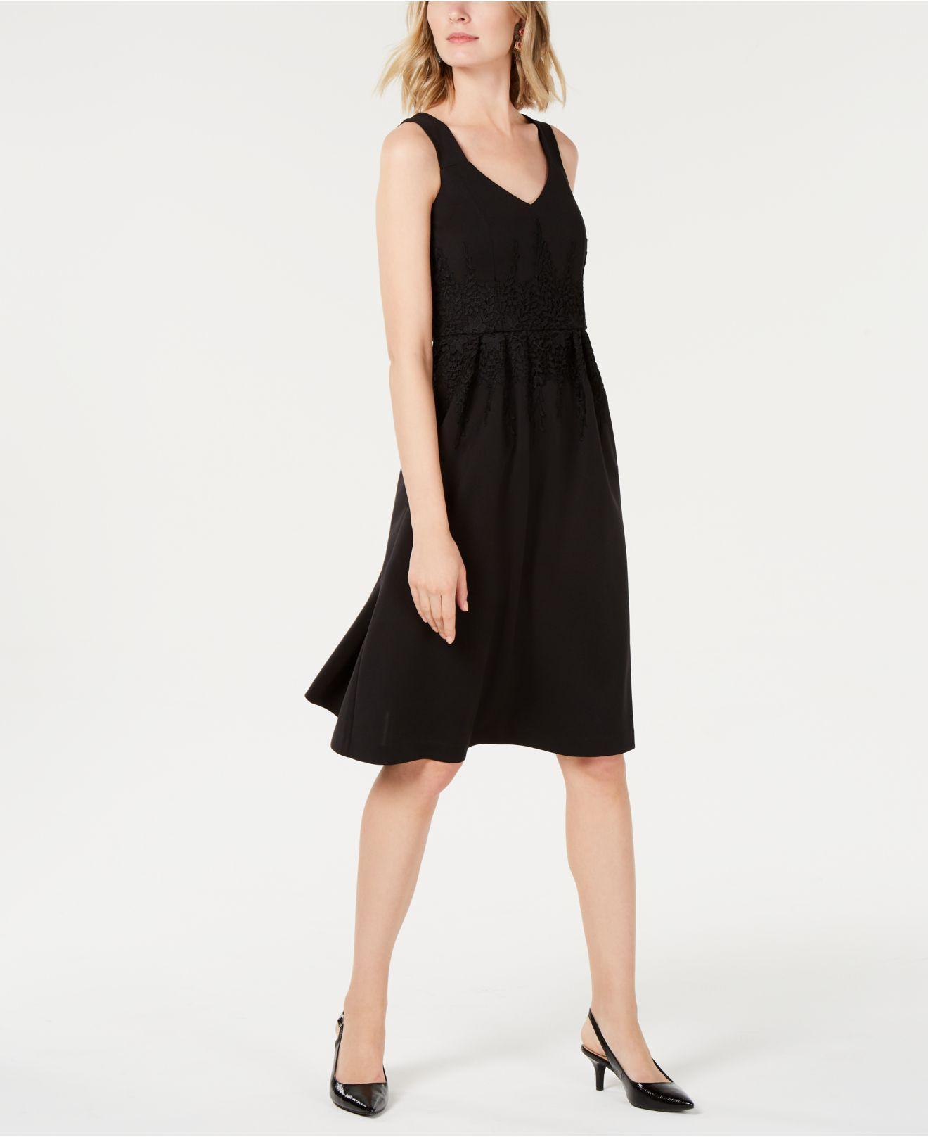 Curvy Fit Lace Trim Midi Dress Created For Macys