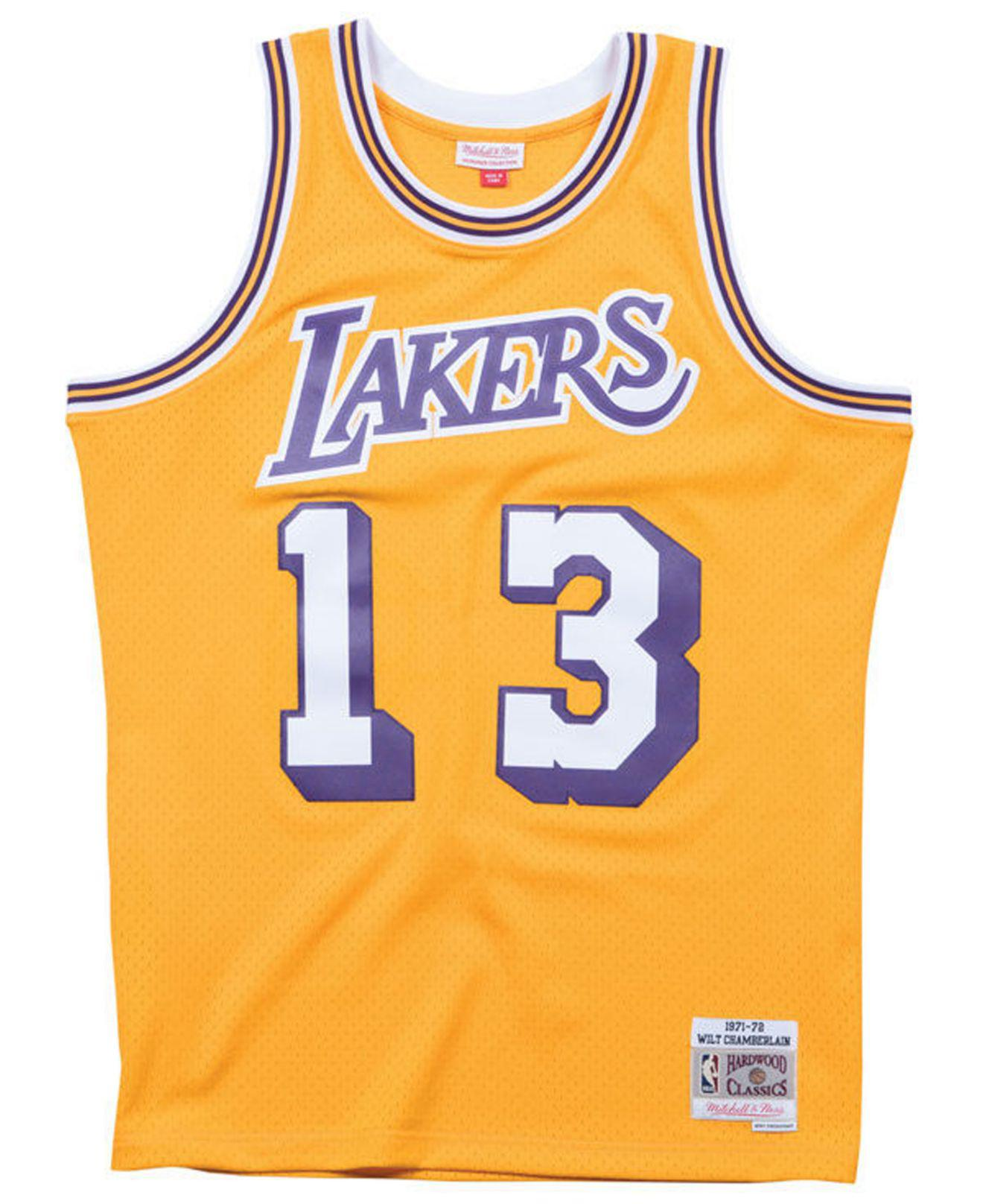 Mitchell & Ness Synthetic Wilt Chamberlain Los Angeles Lakers ...