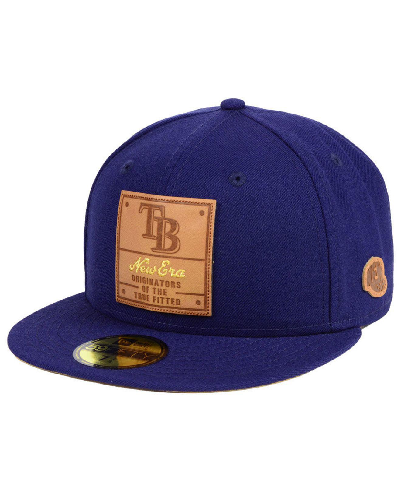 save off 61aa5 cf5b0 KTZ. Men s Blue Tampa Bay Rays Vintage Team Color 59fifty Fitted Cap