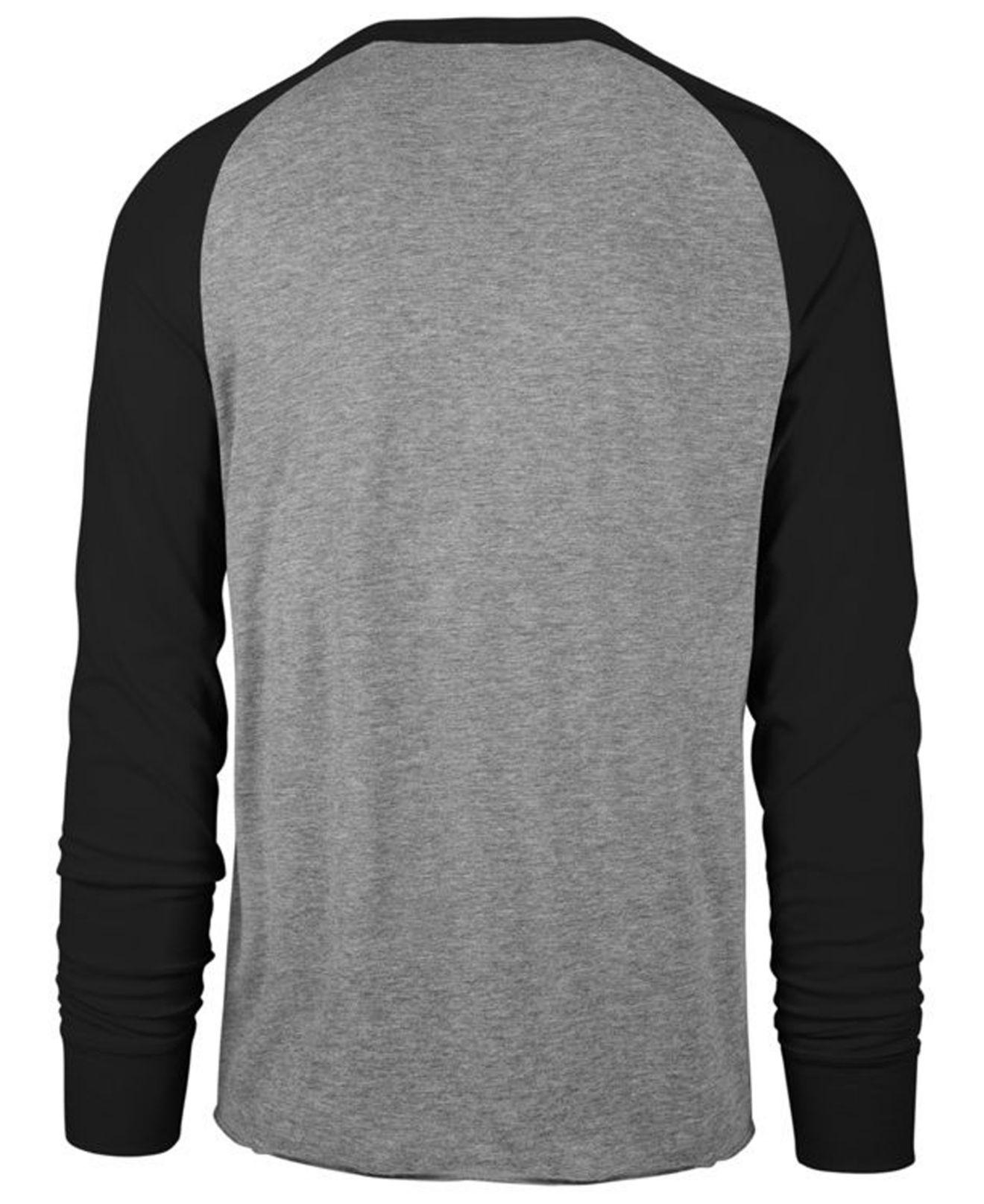 Lyst - 47 Brand Pittsburgh Steelers Retro Encircled Long Sleeve Club Raglan  T-shirt in Gray for Men cd22d971b
