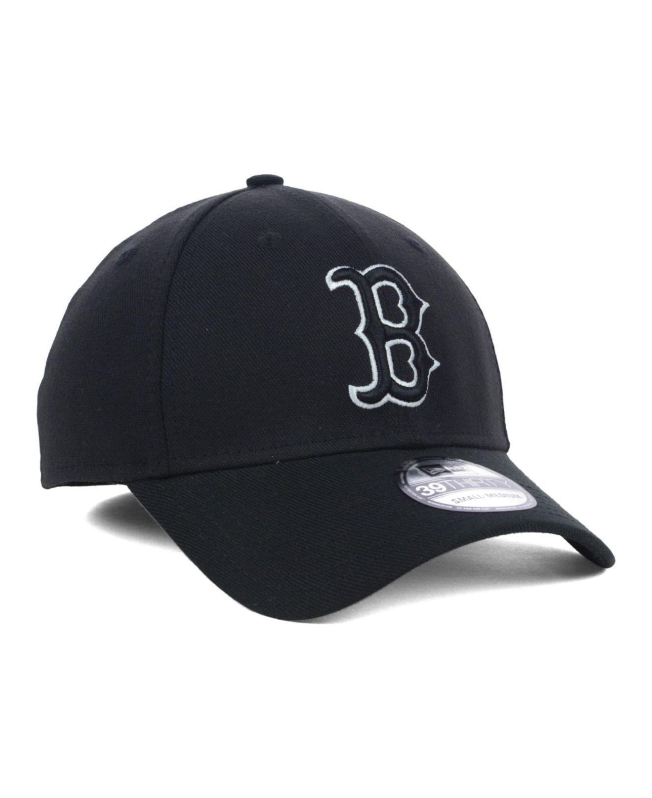 huge selection of 30a65 a4932 ... best price lyst ktz boston red sox black and white classic 39thirty cap  in 2549a f45a1