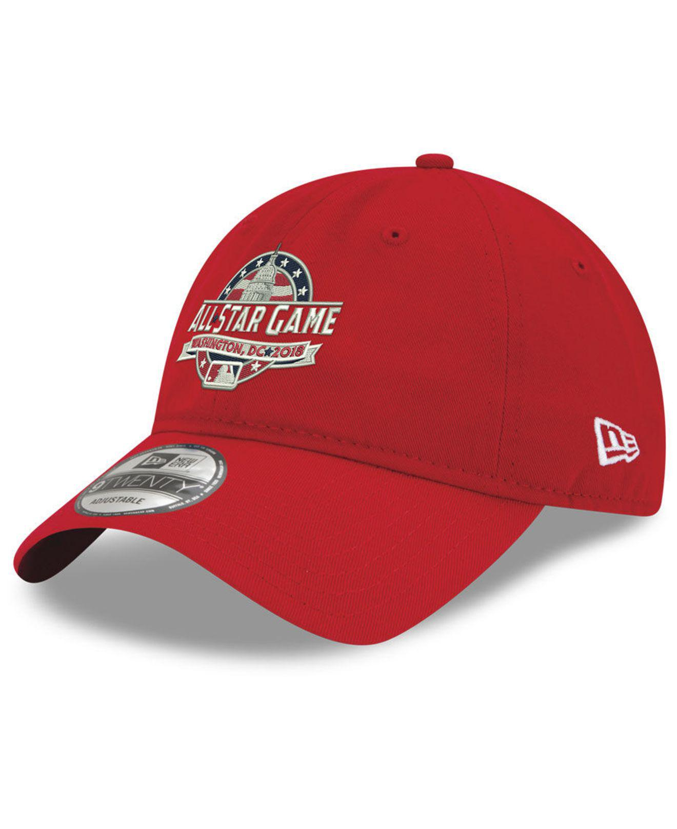 official photos 894ce f63cf sweden lyst ktz 2018 mlb all star game 9twenty cap in red for men 1aadc  9f044