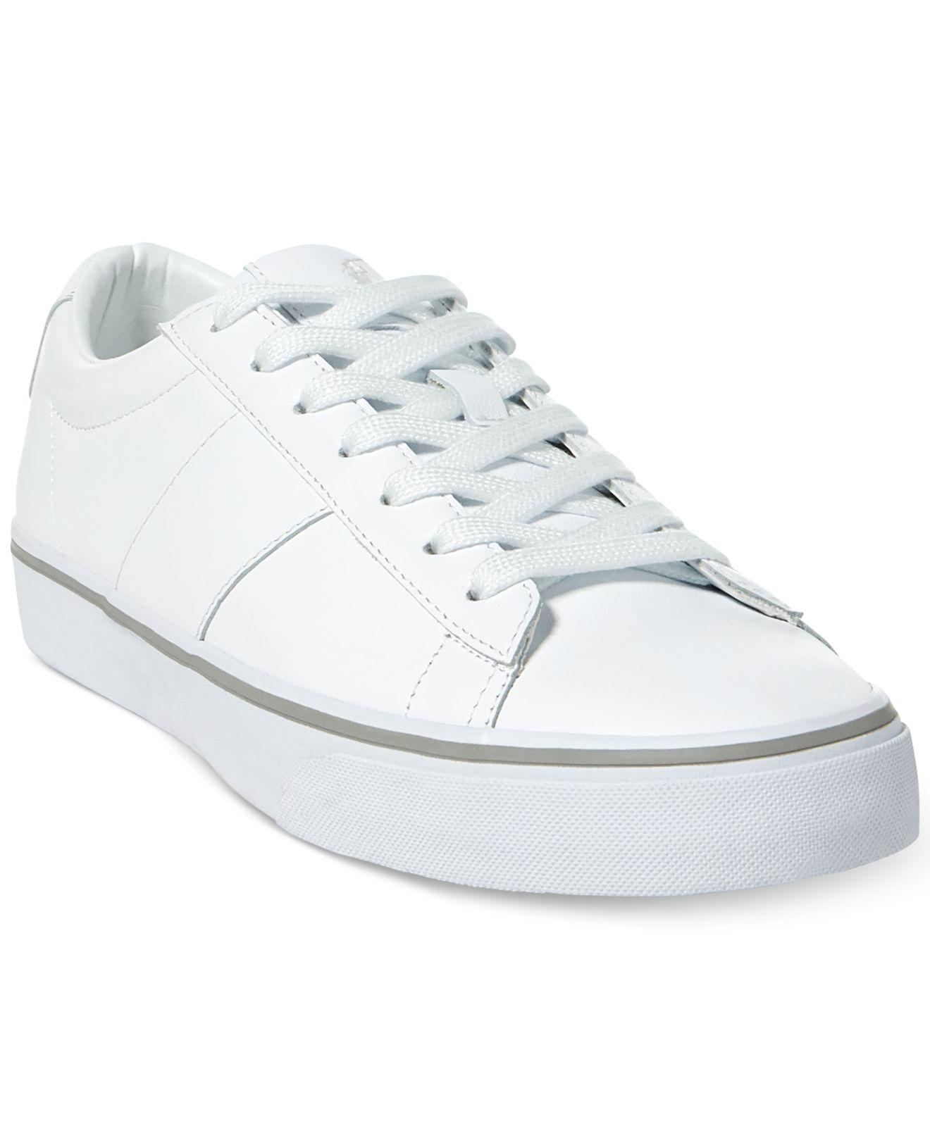Low Ralph White Men's Sneakers Lauren Top Sayer Men For Polo 3j5Lq4AR