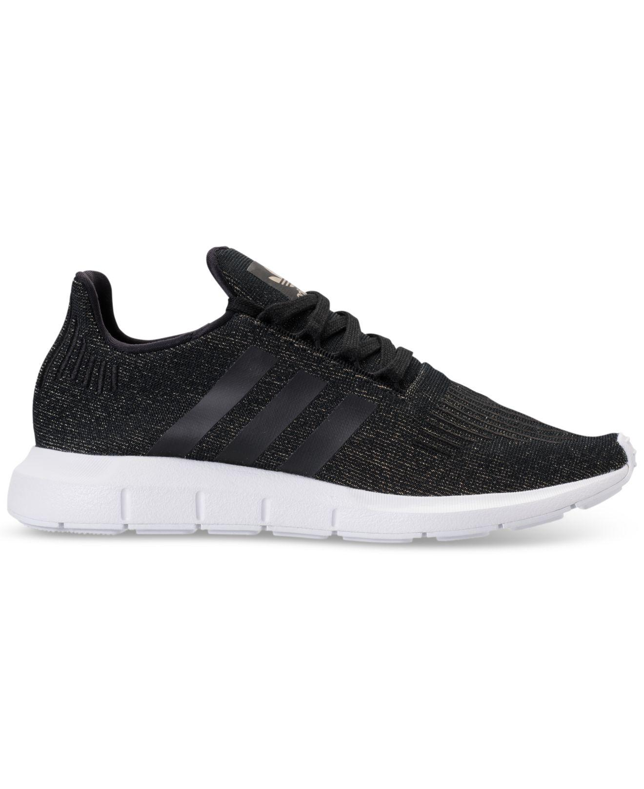 af9abcece Lyst - adidas Women s Swift Run Casual Sneakers From Finish Line in Black