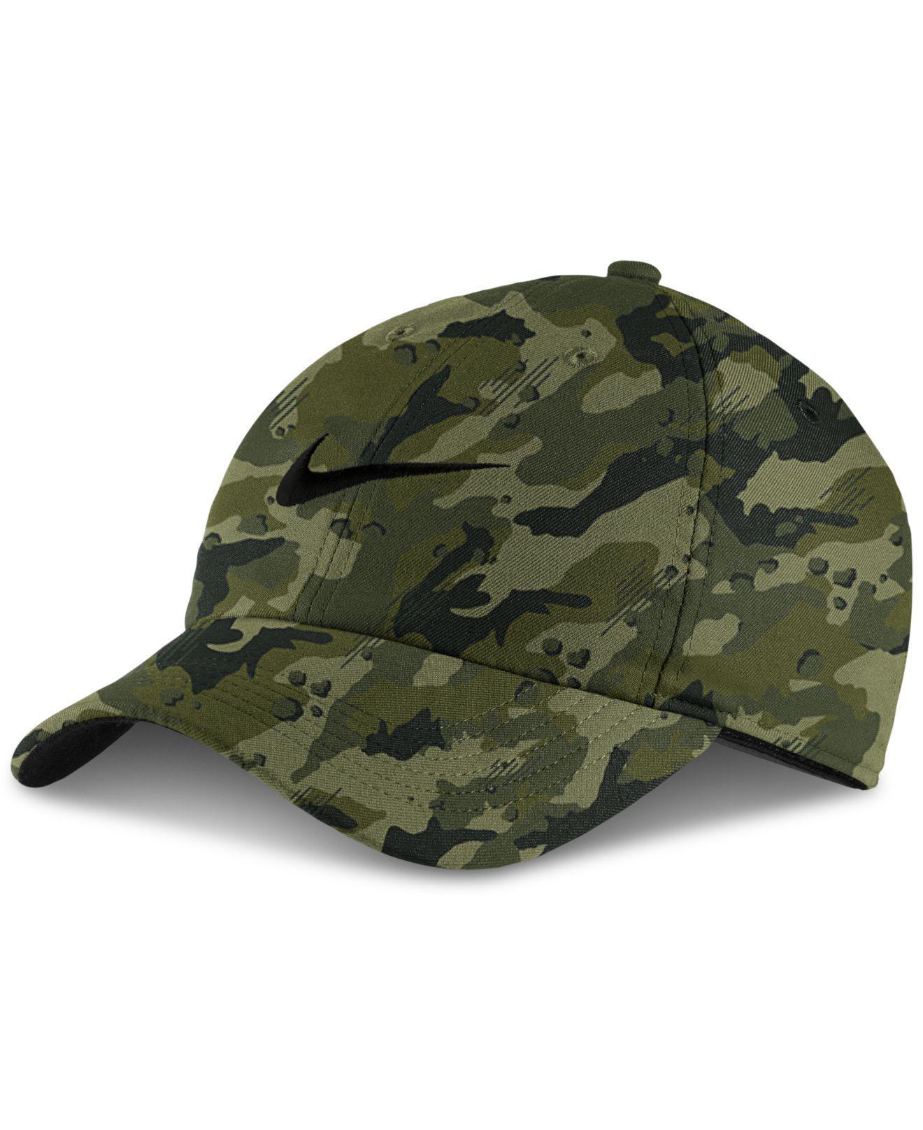 Lyst - Nike Aerobill Dri-fit Camo-print Cap in Green for Men 85b5ad9973a