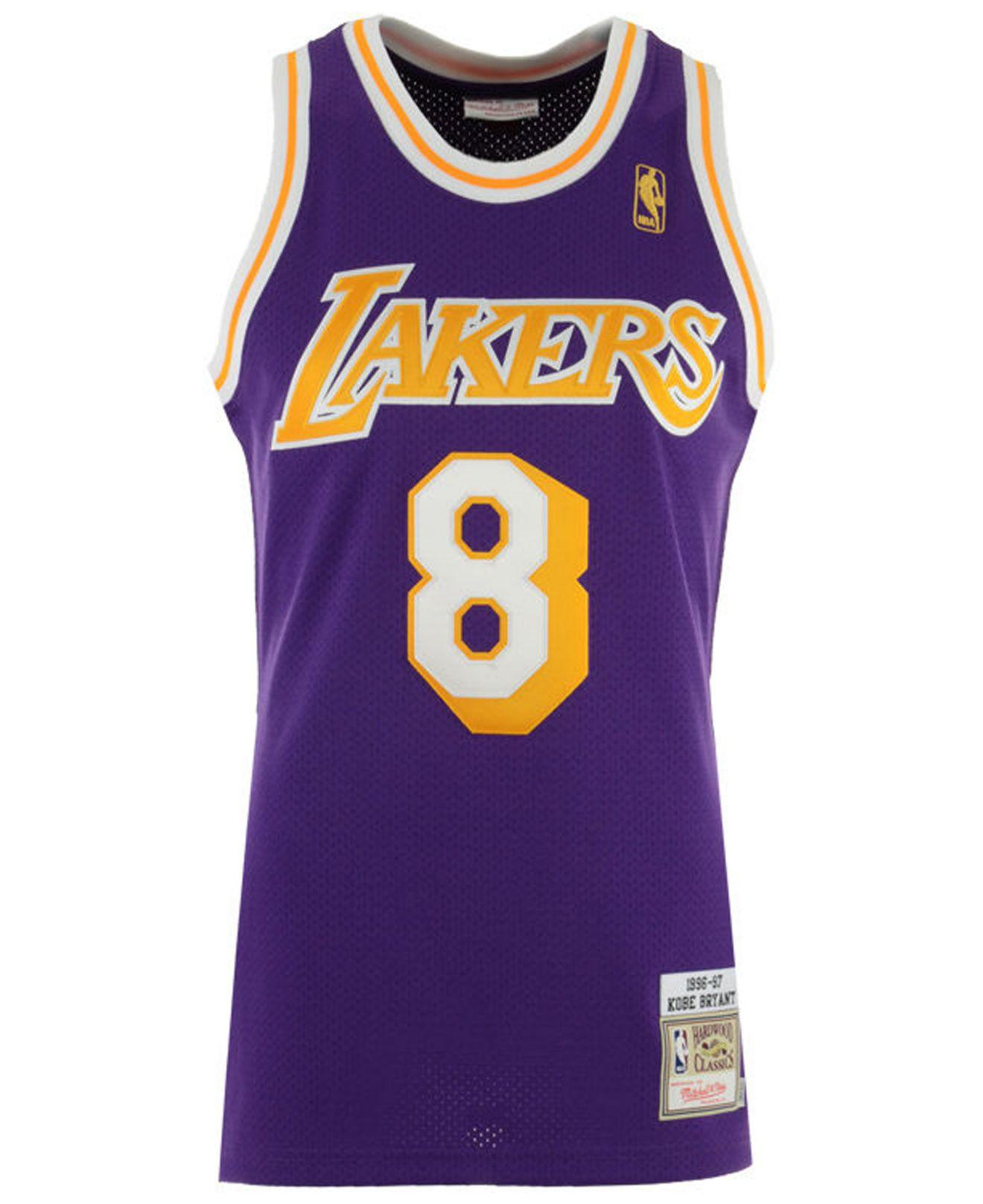 bdf7e937362 Mitchell   Ness Kobe Bryant Los Angeles Lakers Authentic Jersey in Purple  for Men - Lyst