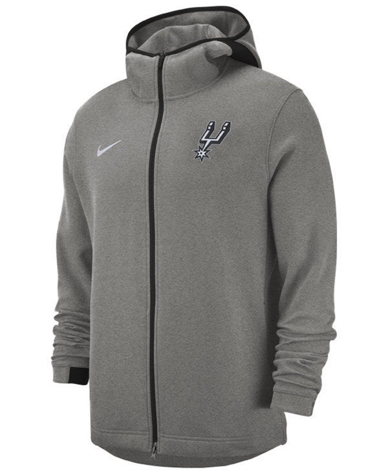 b8b62a9b6 Lyst - Nike San Antonio Spurs Dry Showtime Full-zip Hoodie in Gray ...