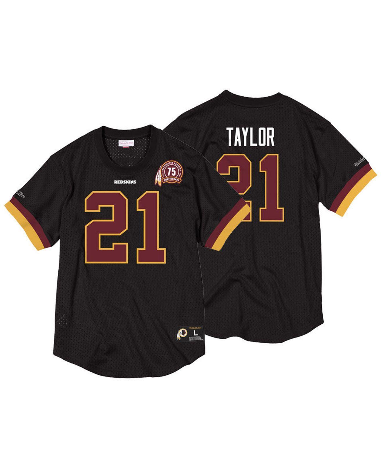 Sean Taylor Washington Redskins Name & Number Mesh Crewneck Top