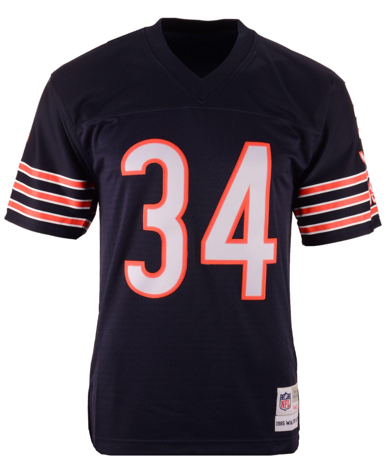 watch c5a4d 9093a Blue Men's Walter Payton Chicago Bears Replica Throwback Jersey