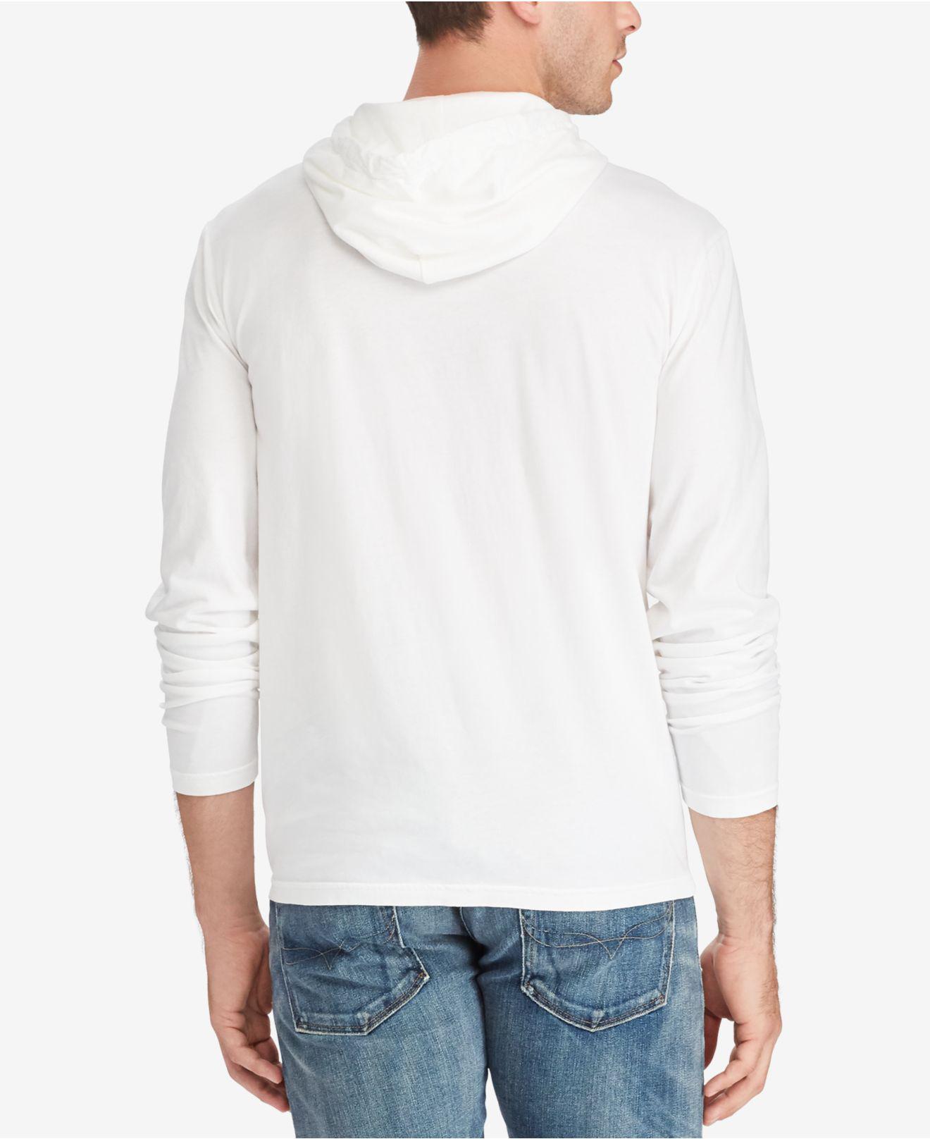 2473b7333207 Lyst - Polo Ralph Lauren Men s Jersey T-shirt Hoodie in White for Men