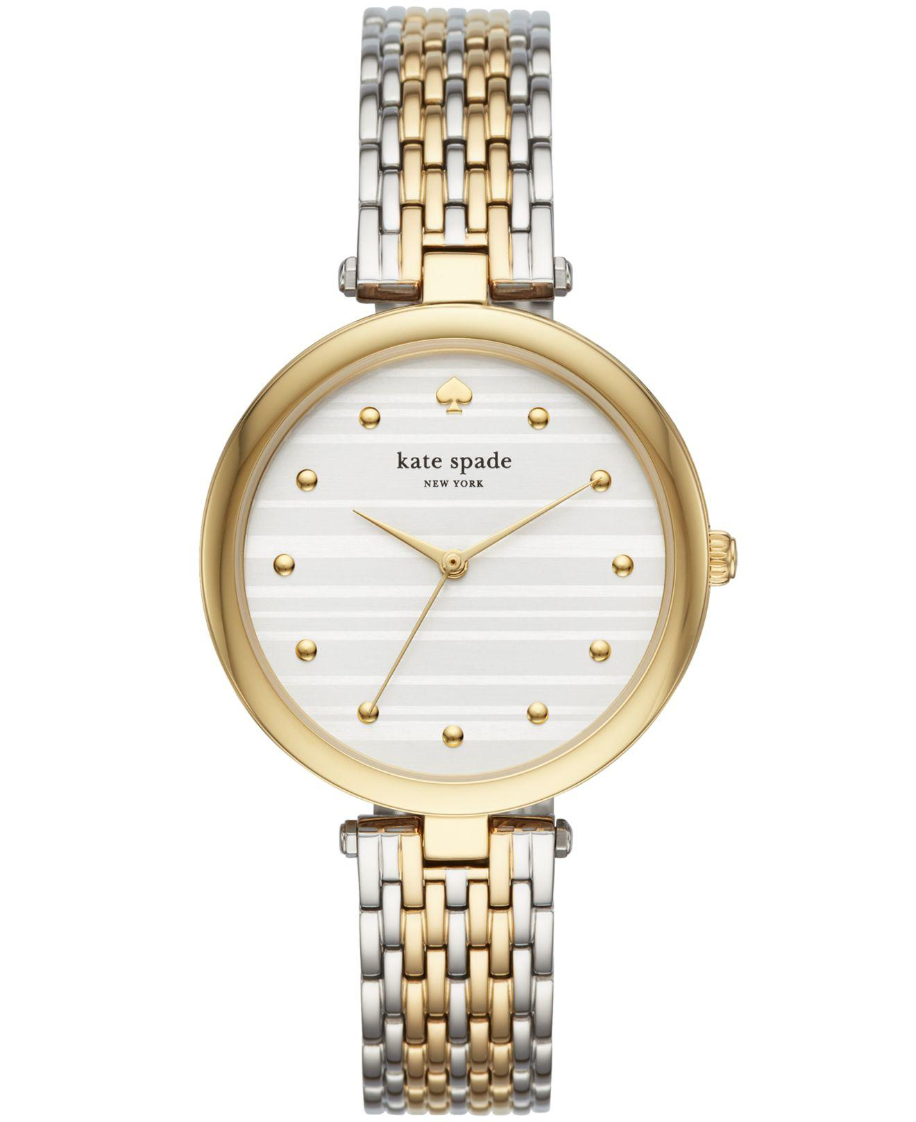 dfbb9c7efee Kate Spade - Metallic Varick Two-tone Stainless Steel Bracelet Watch 36mm -  Lyst. View fullscreen