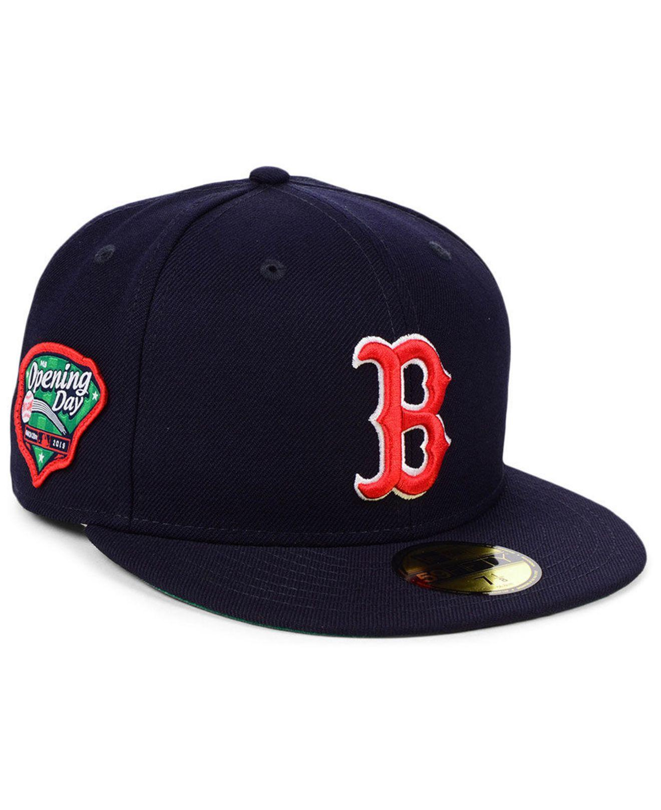the best attitude 005e2 0e1ee KTZ Boston Red Sox Opening Day 59fifty-fitted-fitted Cap in Blue for Men -  Lyst